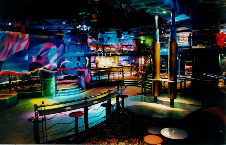 A shot of the dancefloor of the Enigma nightclub.