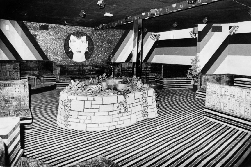 Some interesting decor inside the Fountain Disco on BrownStreet. (1983)