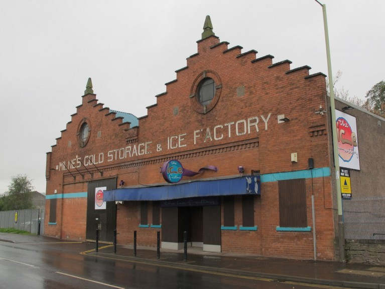 The former Ice Factory club in Perth.