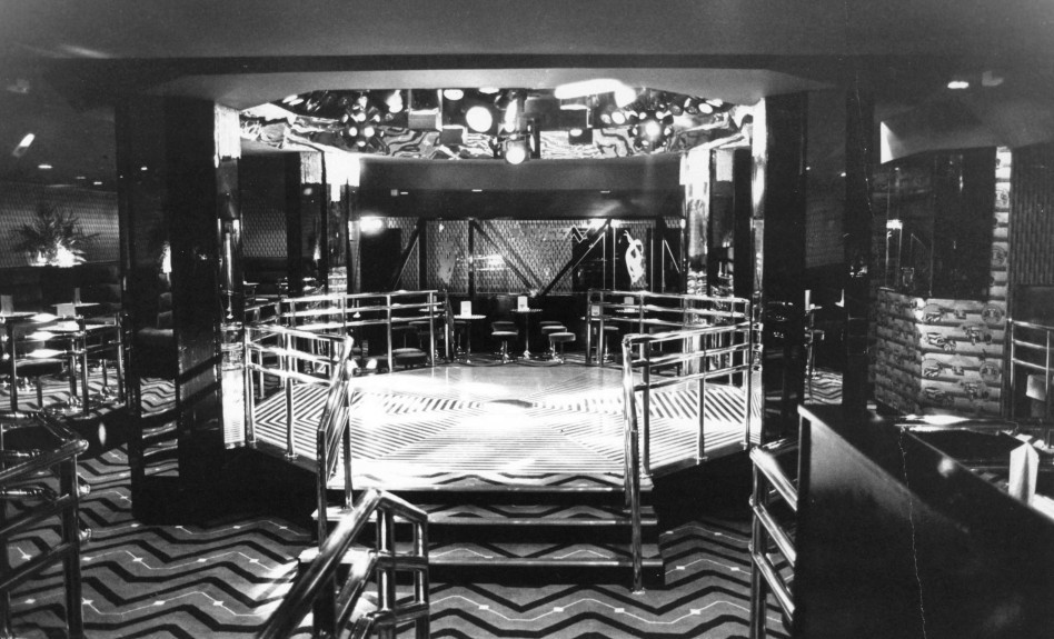 The dancefloor area of Maxim's nightclub on St Andrew's Lane in 1984.