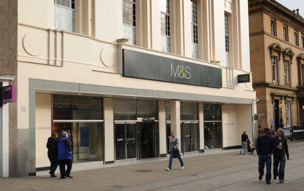 Building exterior of the Marks and Spencer store, Murraygate, Dundee
