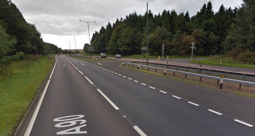 The accident happened at the Tealing junction. Picture: Google