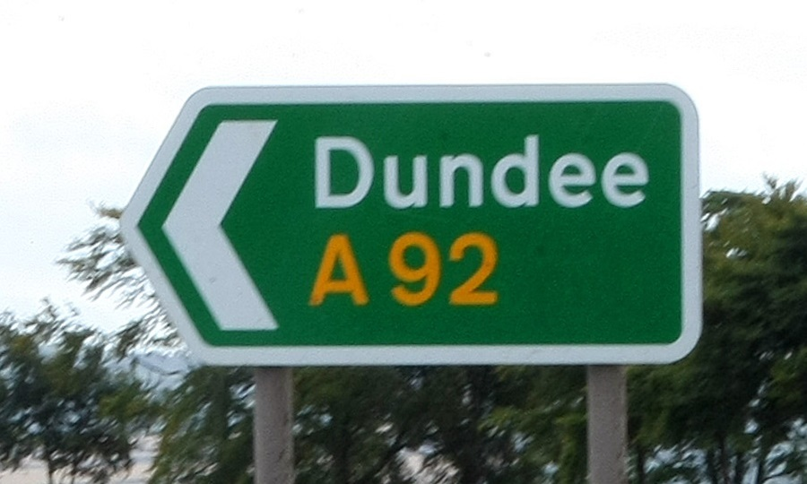 A sign on the A92 in Fife (library image)