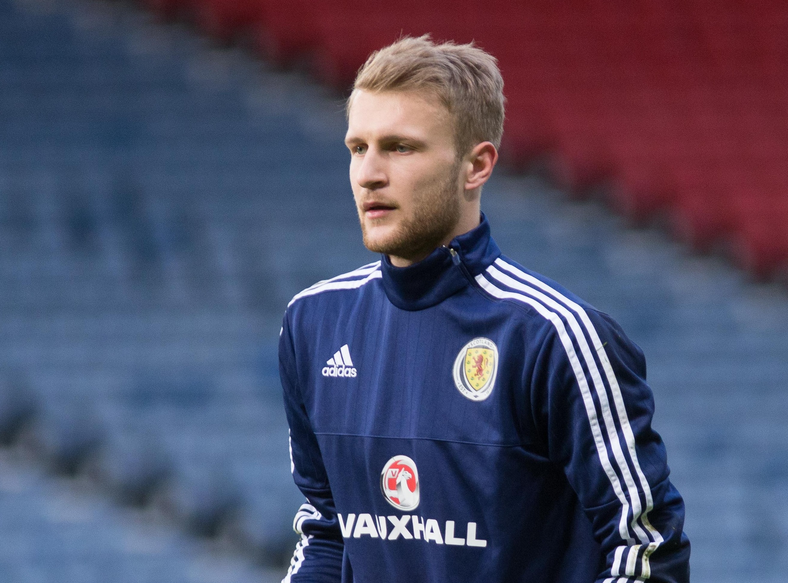 Dundee keeper Scott Bain had to watch on from the bench again as Scotland beat Denmark 1-0.