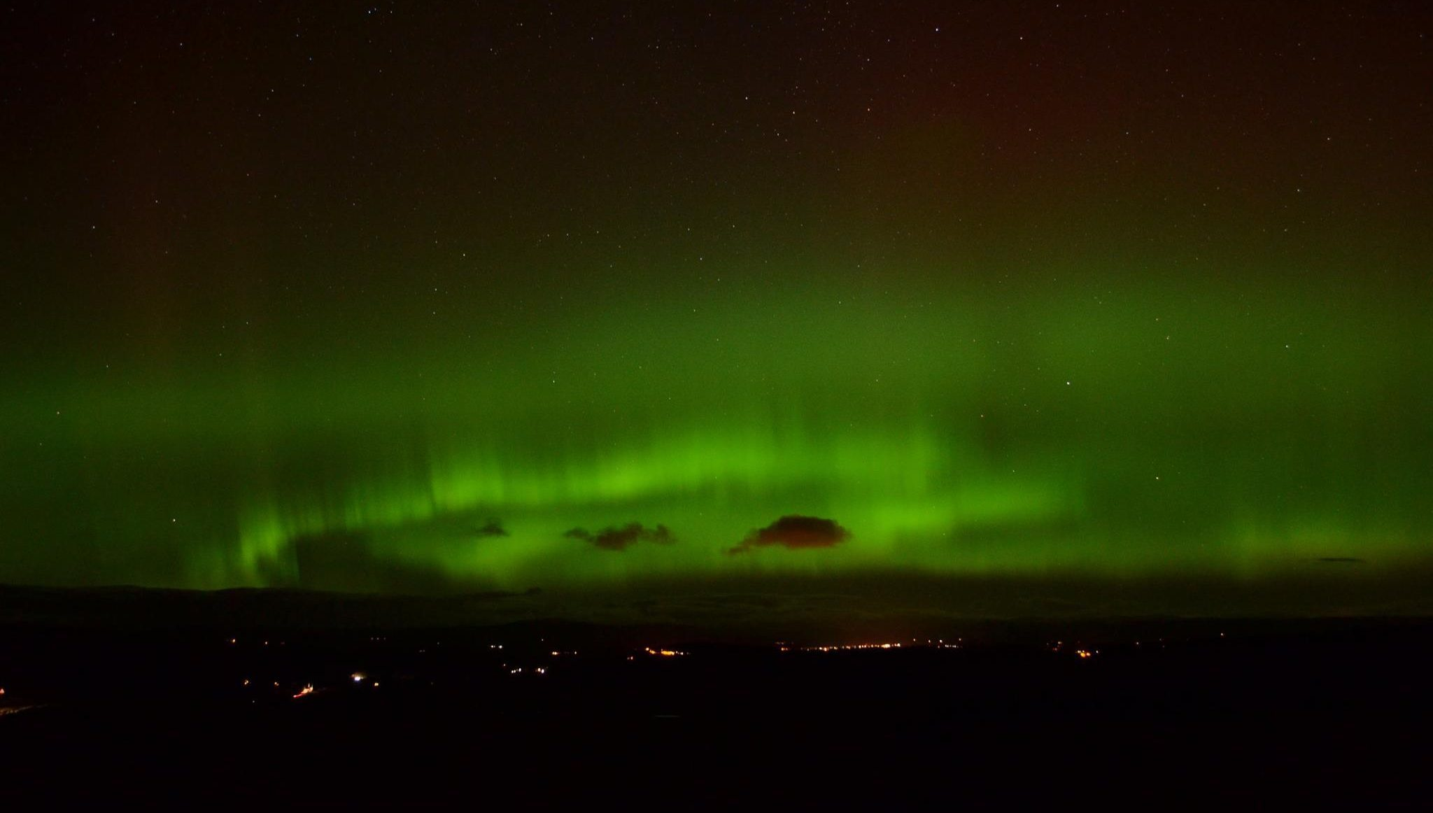 Cahli Laird shared this amazing picture on the Tele Facebook page last March of the Northern Lights just outside Dundee.