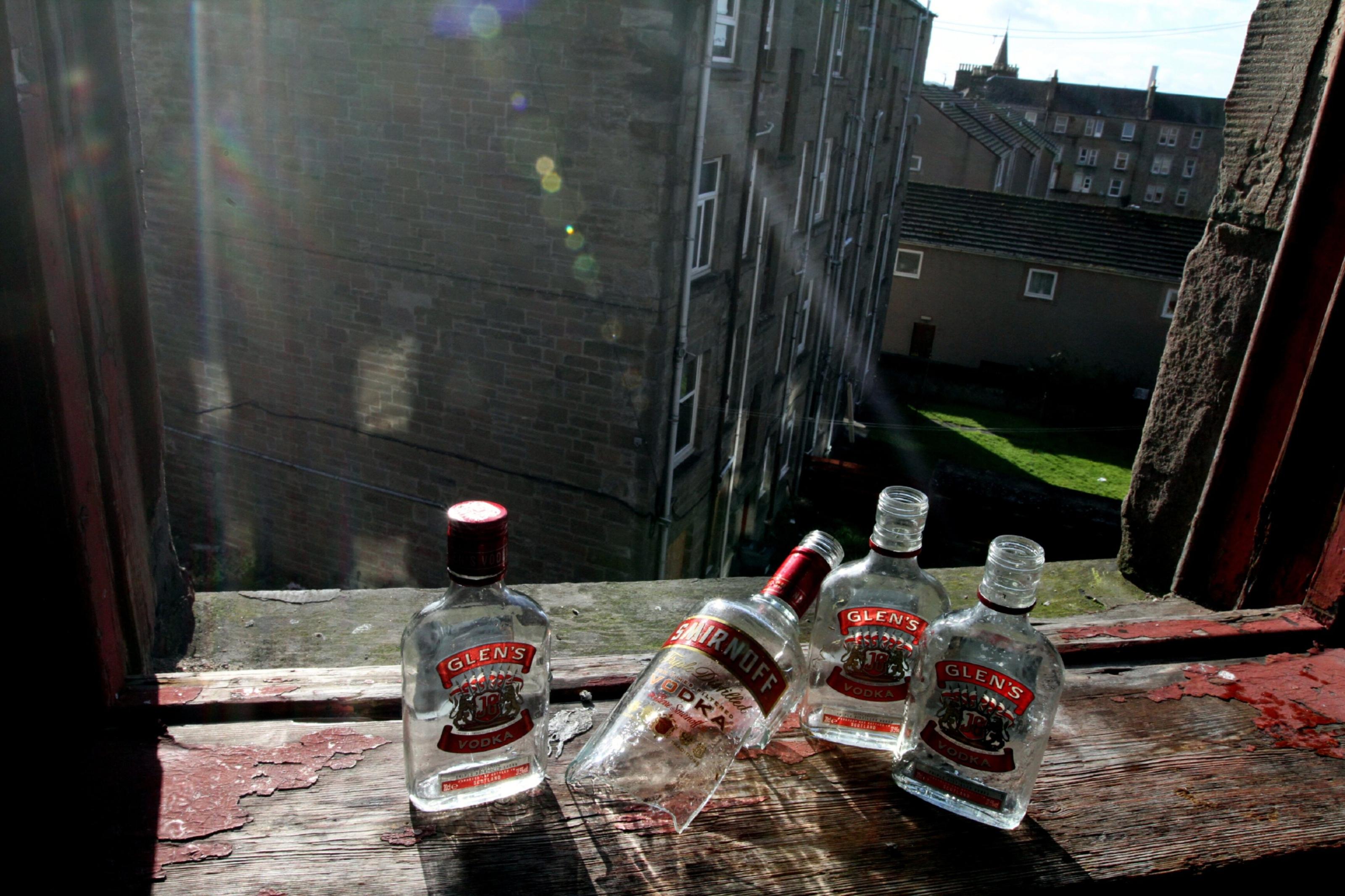 Some bottle were left behind