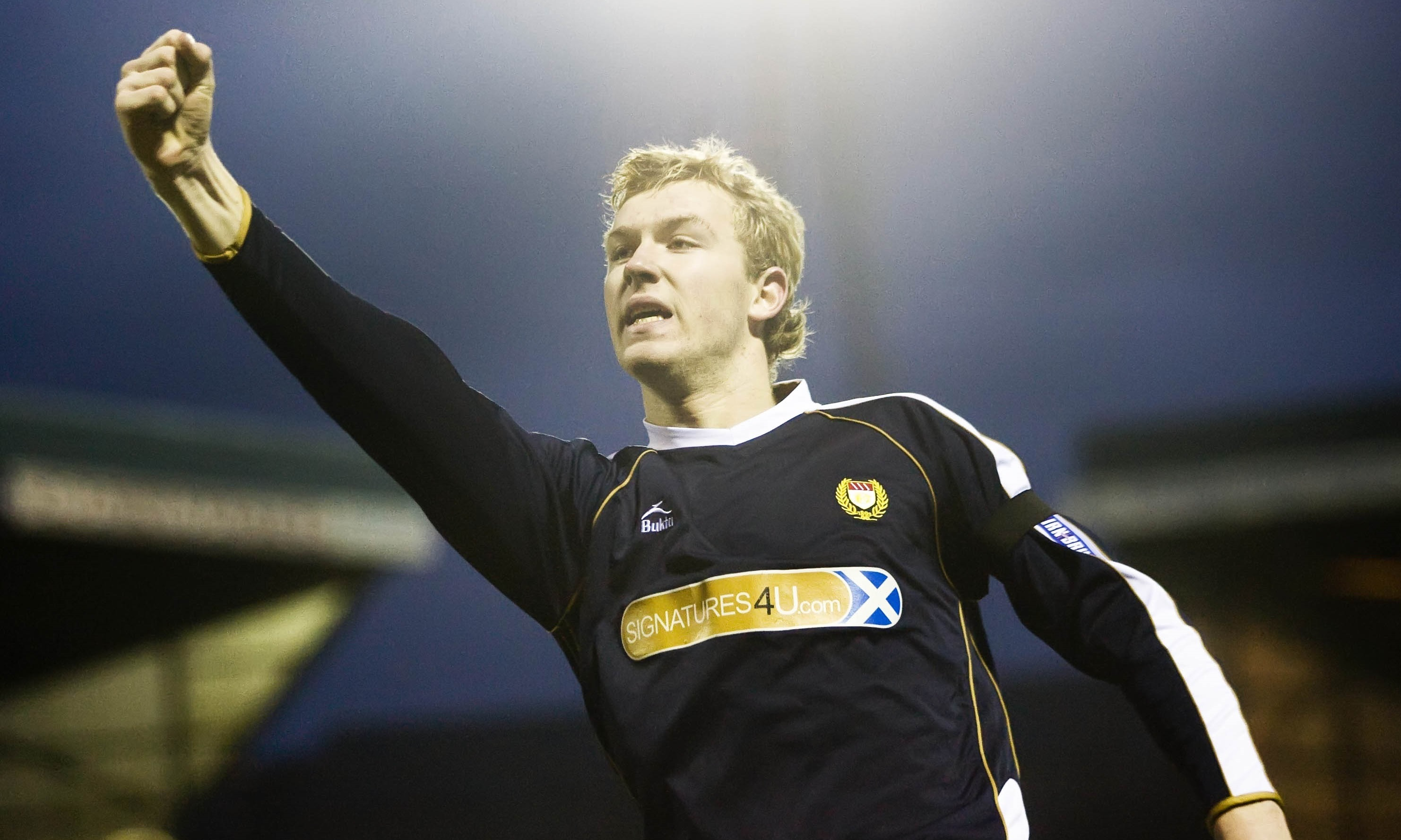 Kevin McDonald pictured here in action for Dundee in 2008.