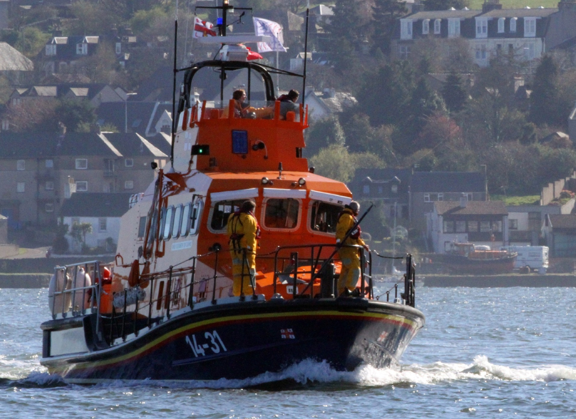 A lifeboat crew has been sent out