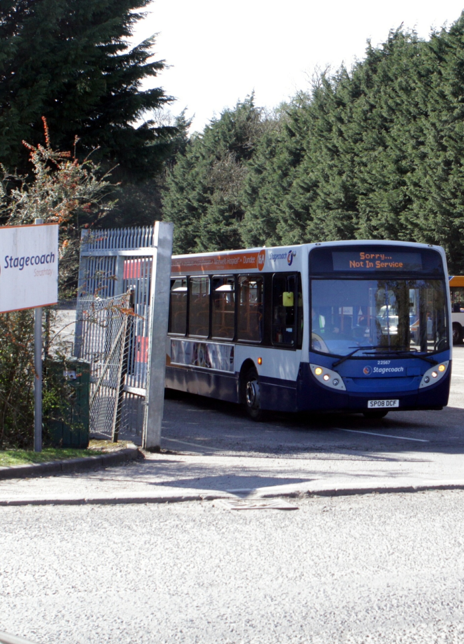 The Stagecoach bus depot on Smeaton Road in Dundee.