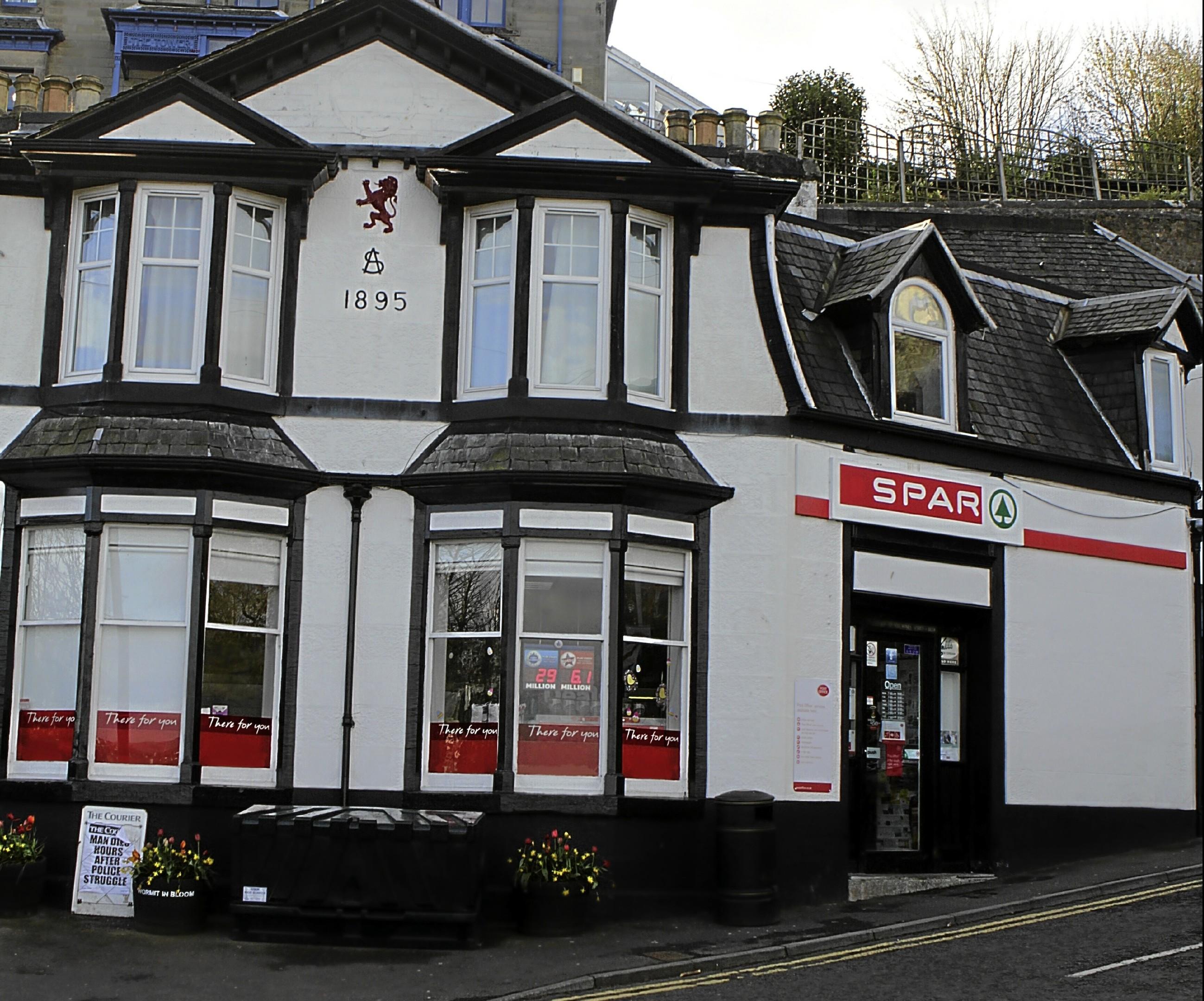 Gordon Robbie Evening Telegraph Spar Post Office at Wormit
