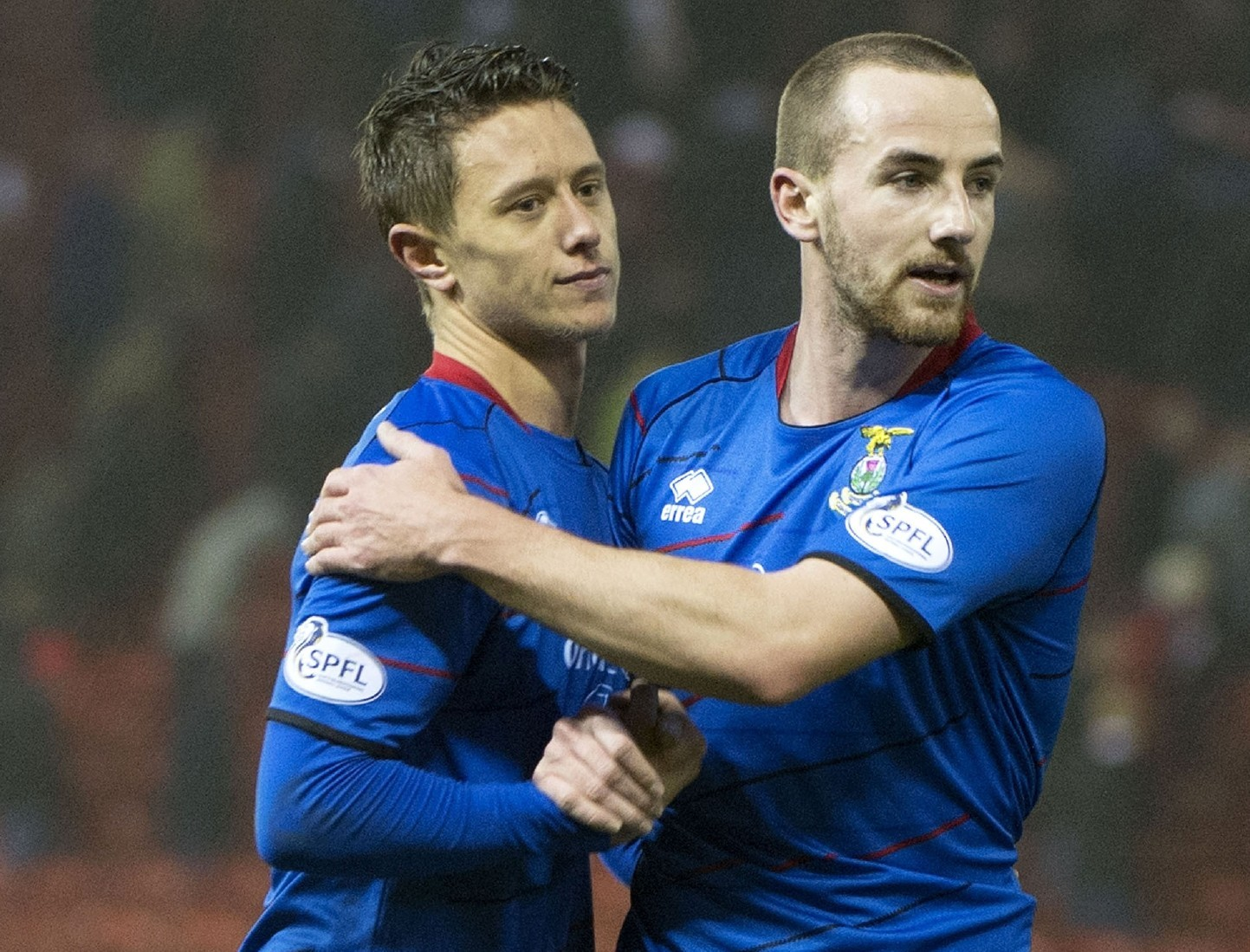 Caley's Danny Williams (left) and James Vincent will add more competition at Dens for their former Inverness team-mate Nick Ross.
