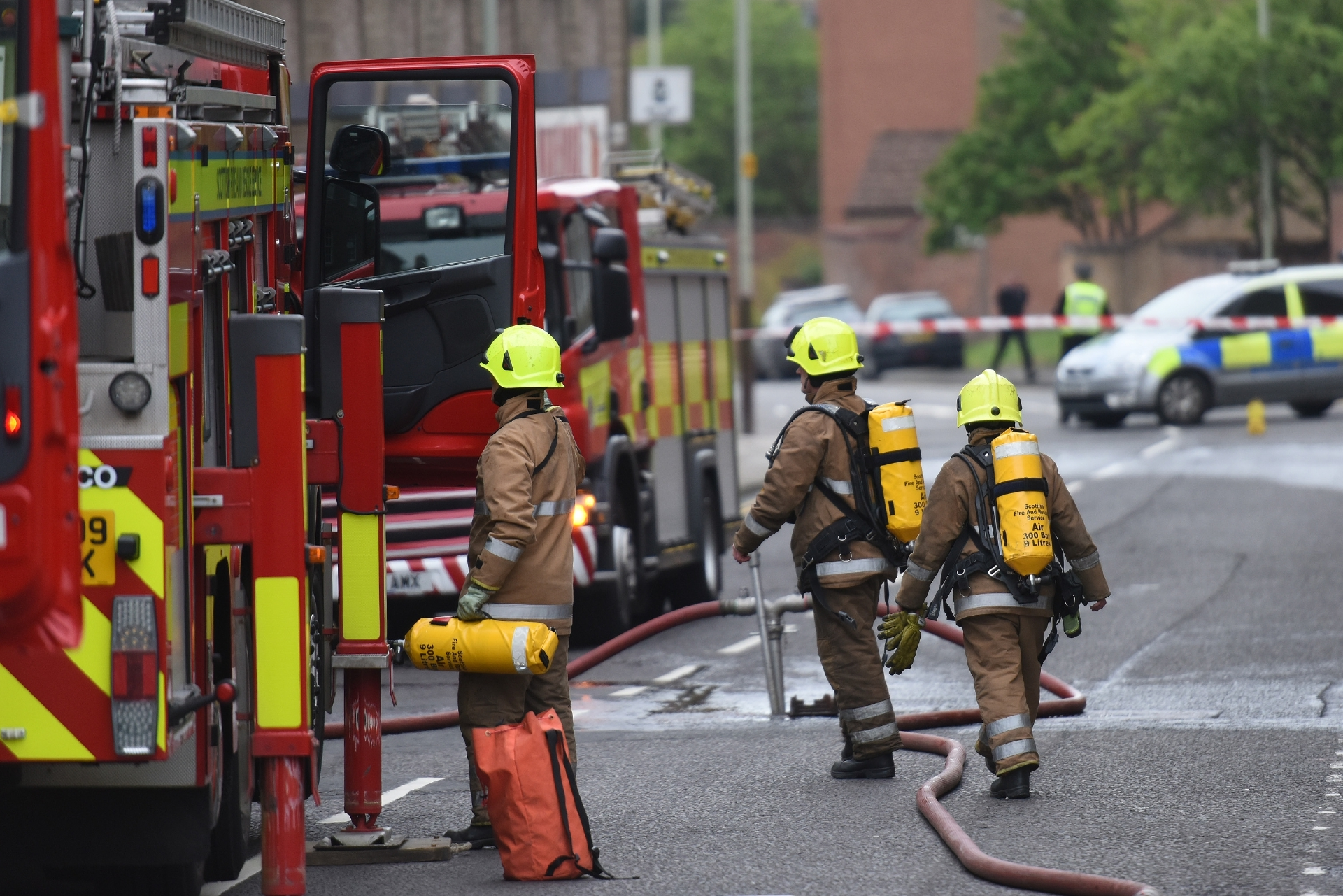 Firefighters tackle a blaze on Princes Street last year in May.