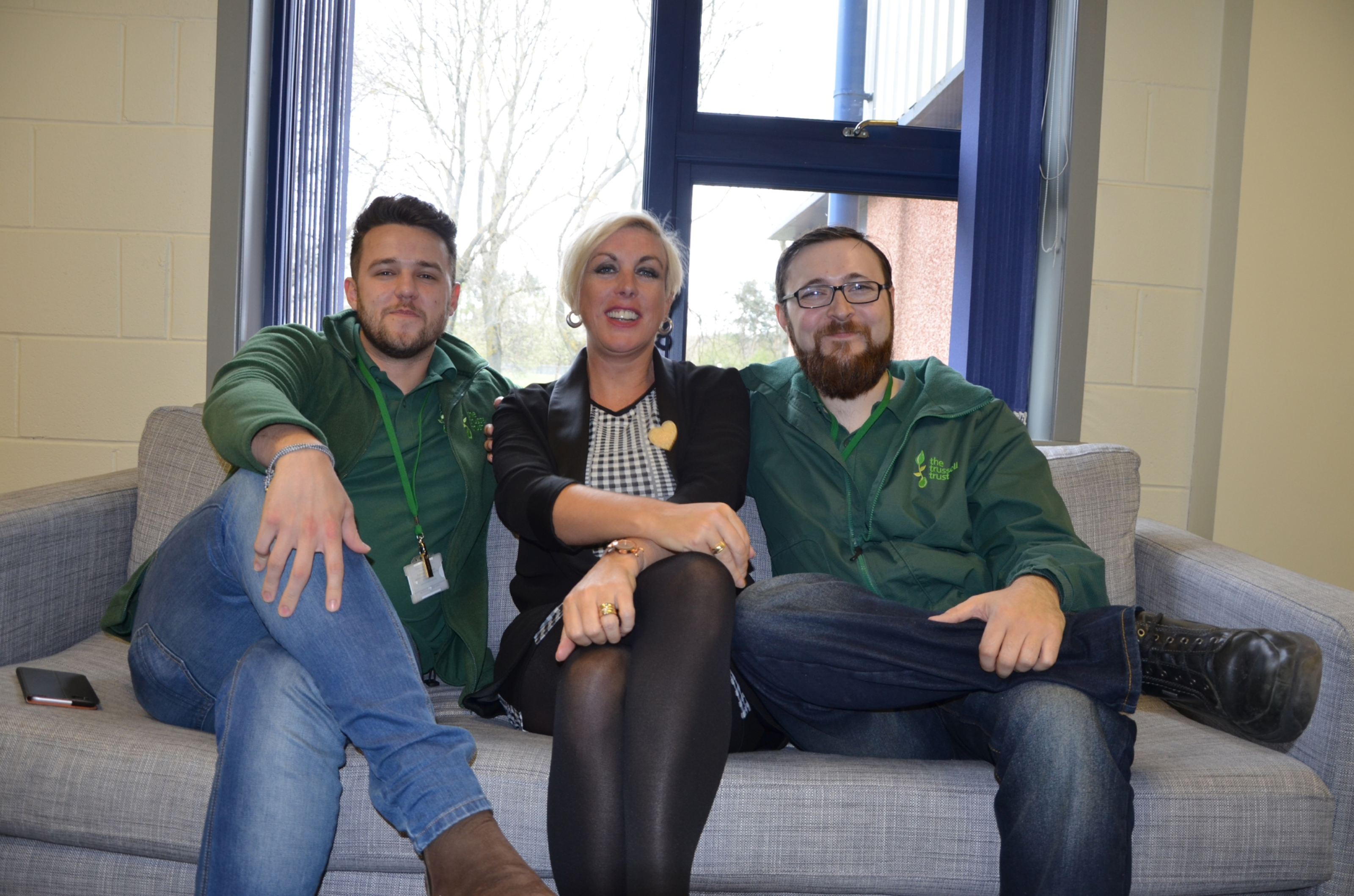 Left, Ewan Gurr of The Trussell Trust. Main picture: Ian Esson, of the Trussell Trust and Joy Watson, of Hillcrest Housing Association, and Ewan Gurr.