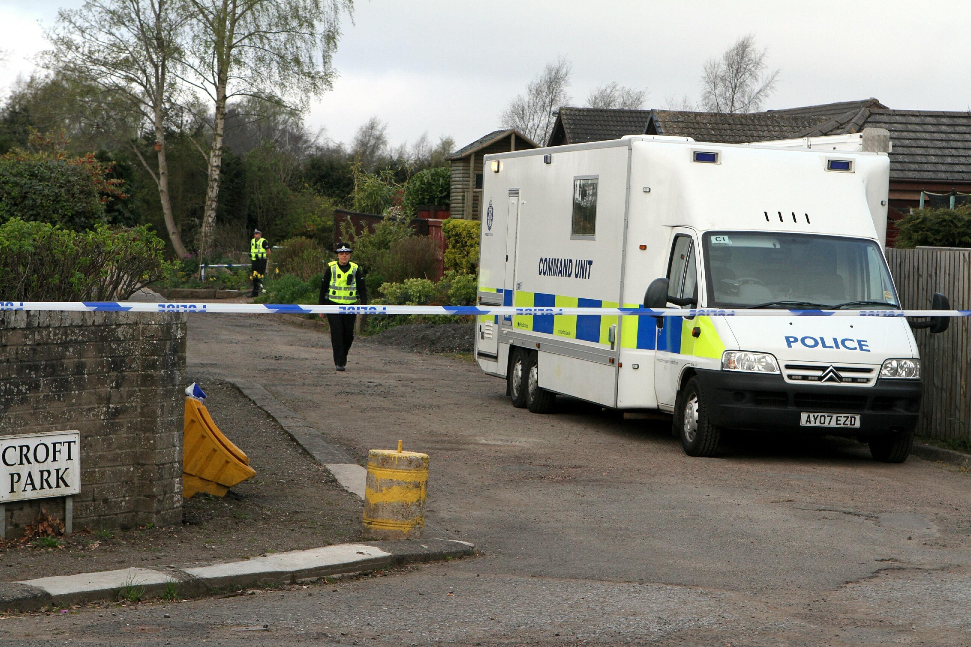 Police found Mr Gardner's body at his Balbeggie bungalow