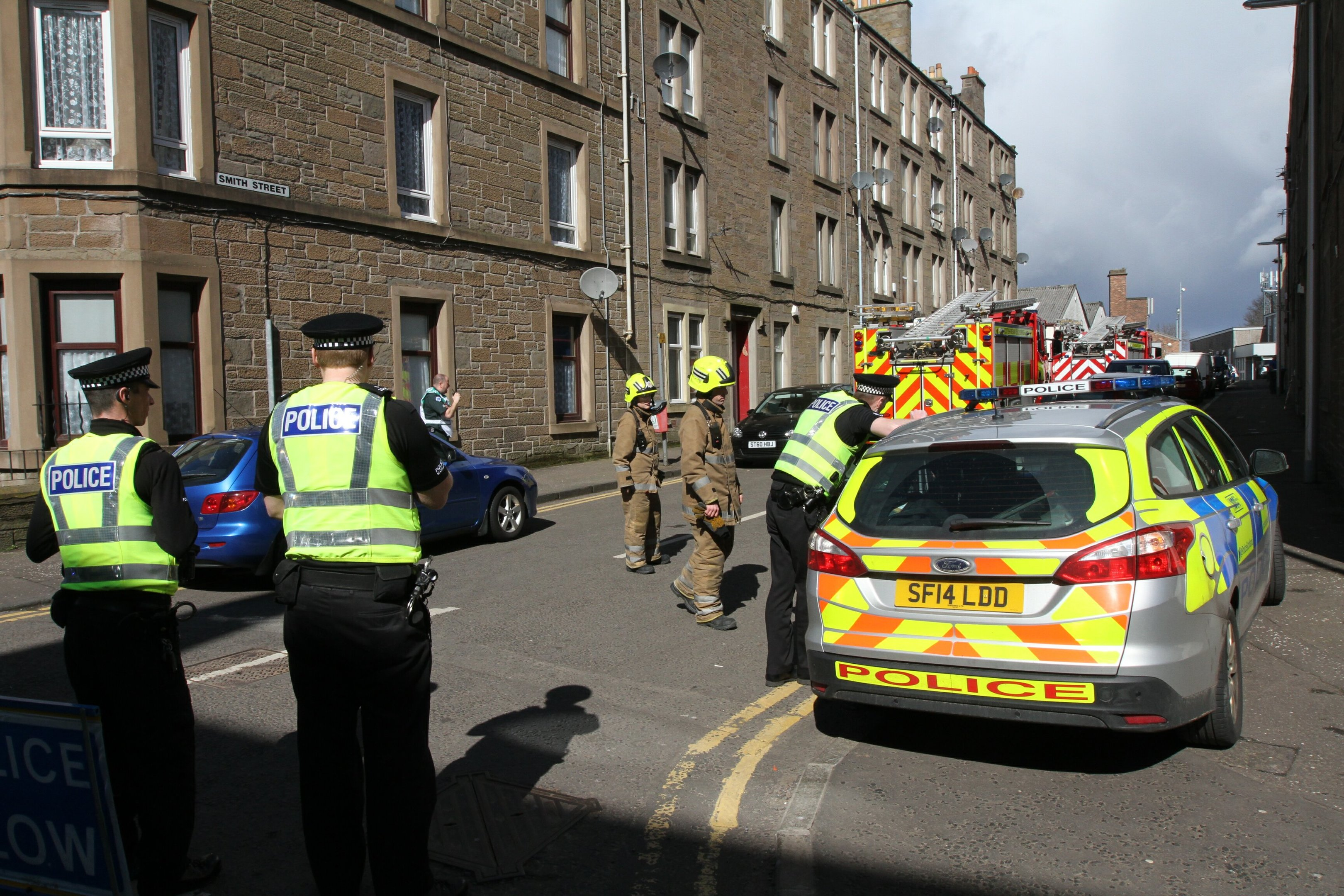 The flats have been evacuated