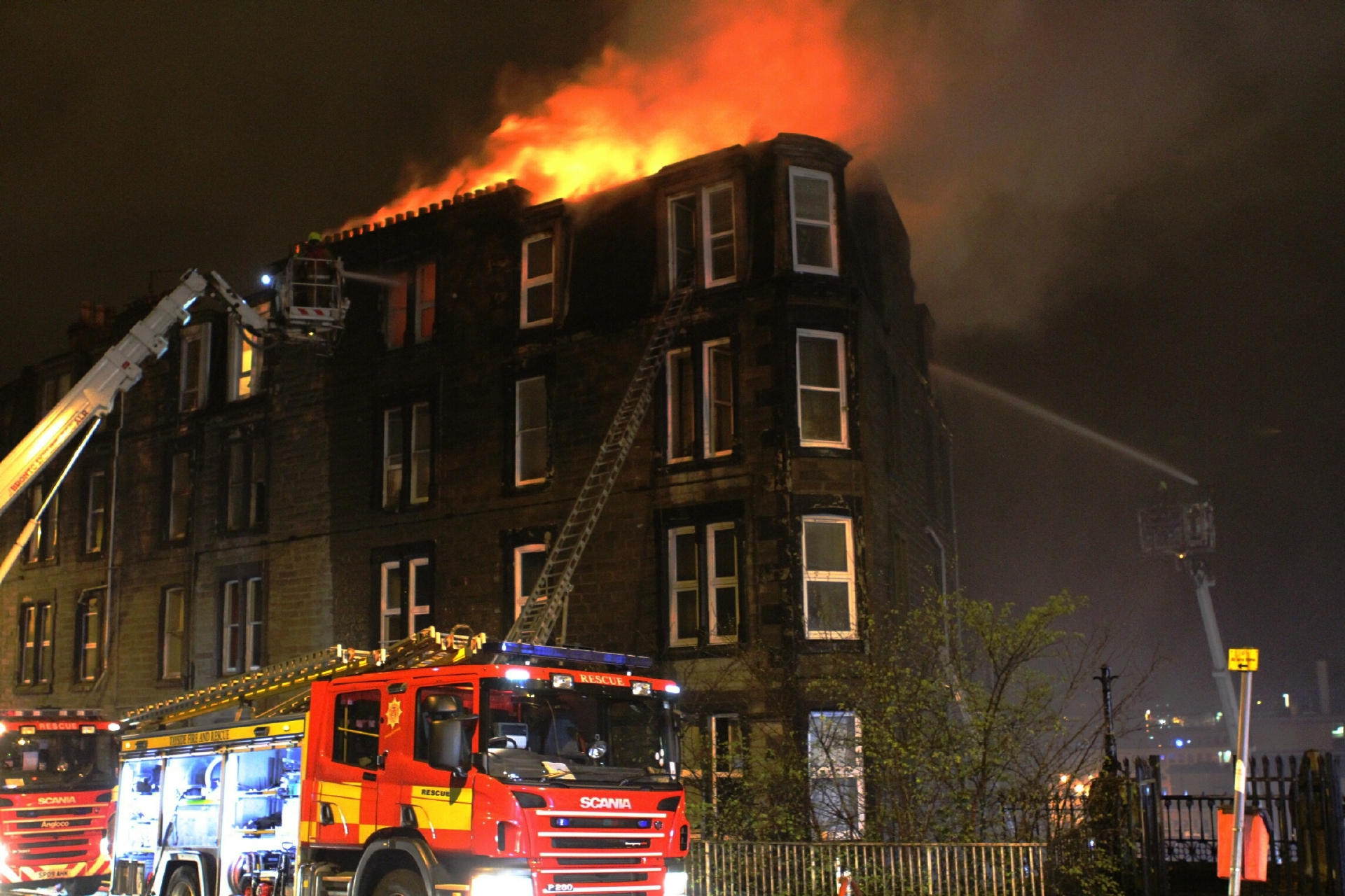 The number of fires — like this one on Garland Place — has dropped.
