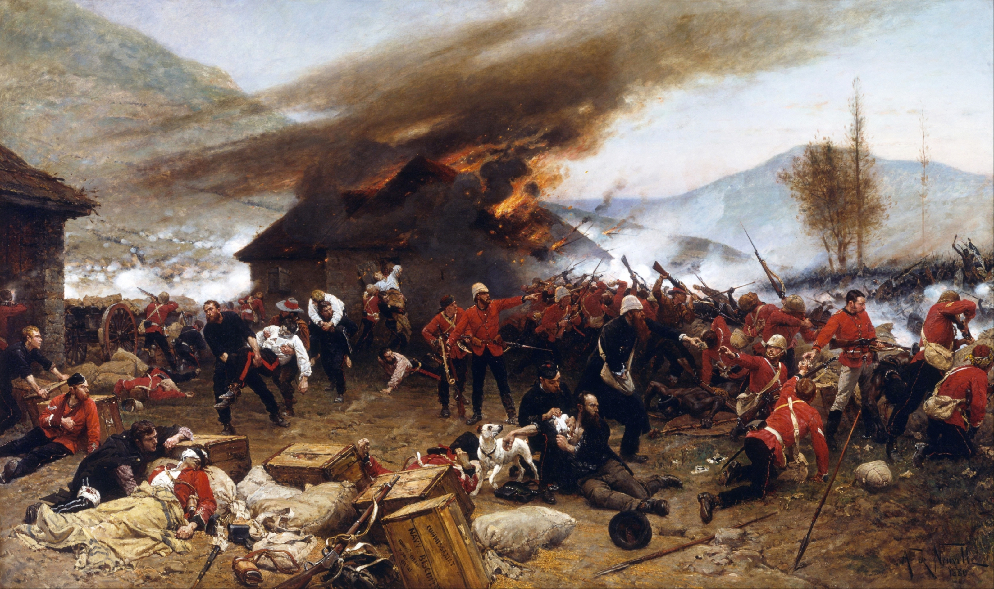 "The painting ""Defence of Rorke's Drift"" by Alphonse de Neuville;"