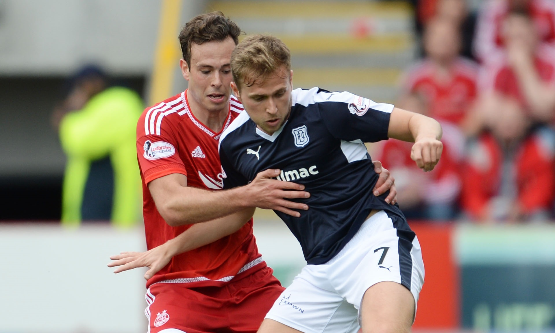 Aberdeen's Andrew Considine battles with Greg Stewart. The pair could soon be teammates...