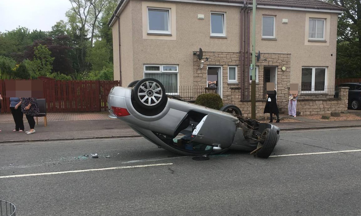 The silver Audi on Harestane Road
