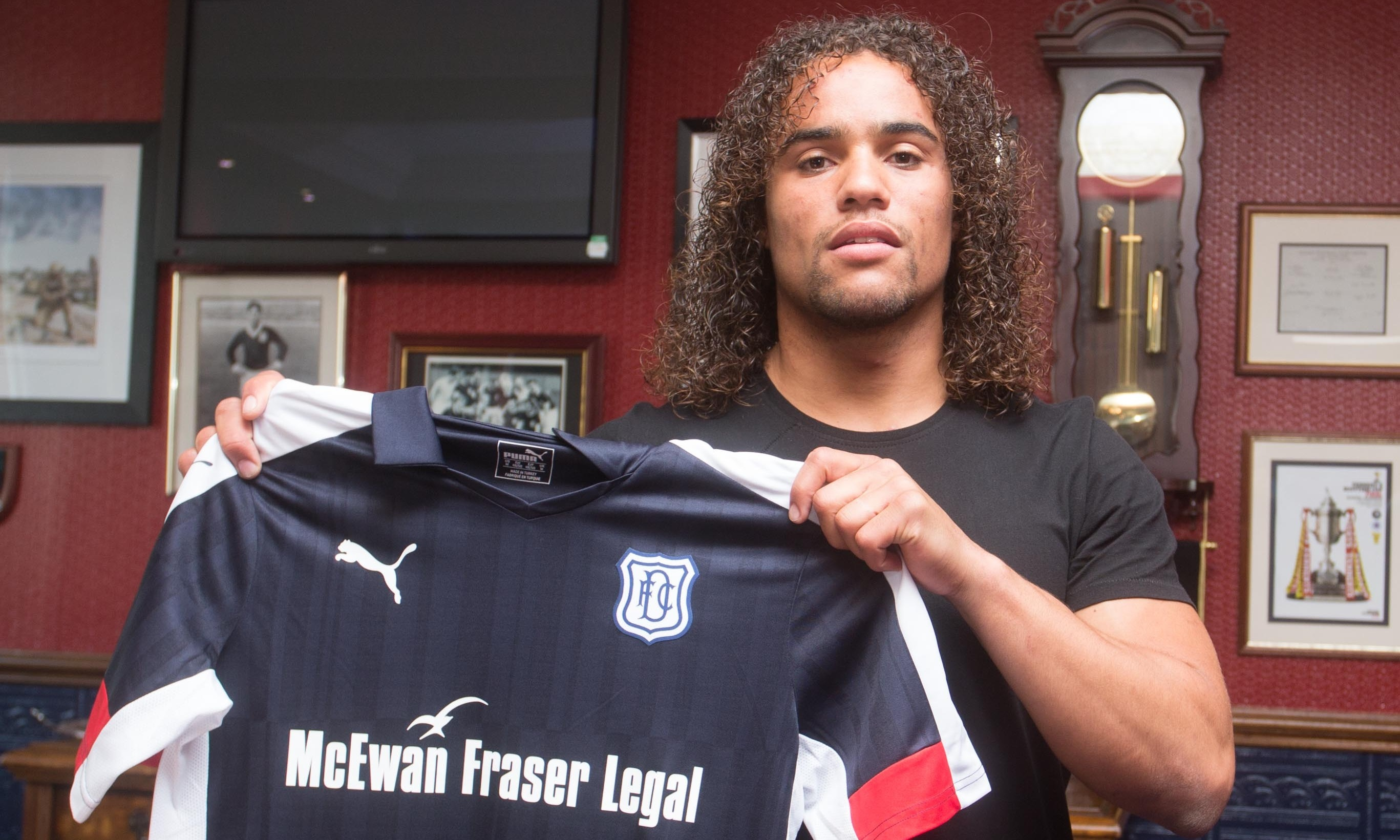Dutchman Yordi Teijsse will be wearing a Dundee shirt next season. Picture by David Young