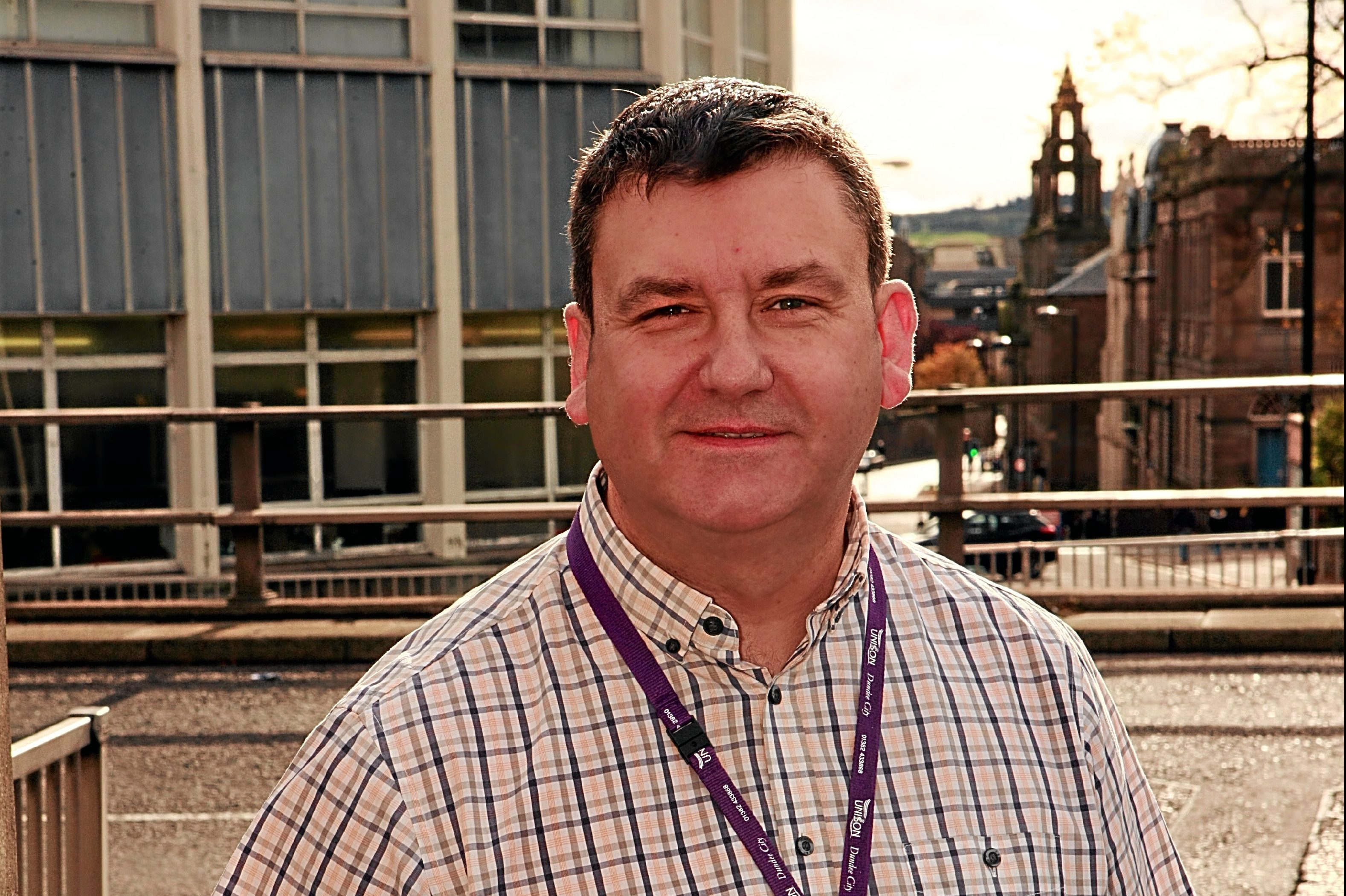 Jim McFarlane of Dundee's Unison