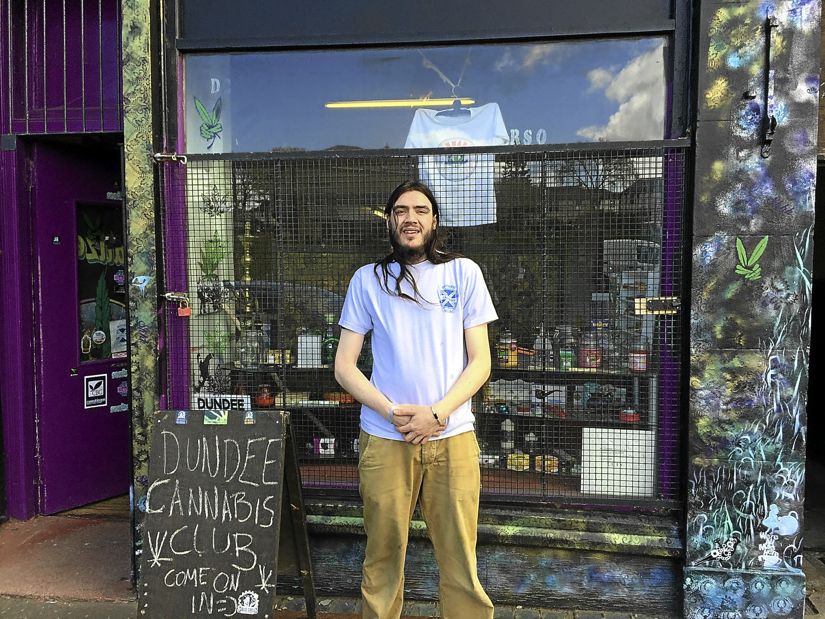 Nik Brown, manager of Dundee Cannabis Club