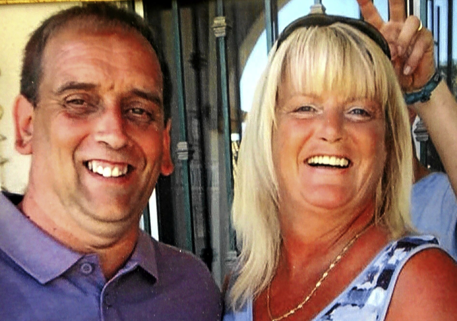 The late Brian Mackie with wife Lynn — the couple ran Ross's Bar together on Arbroath Road.