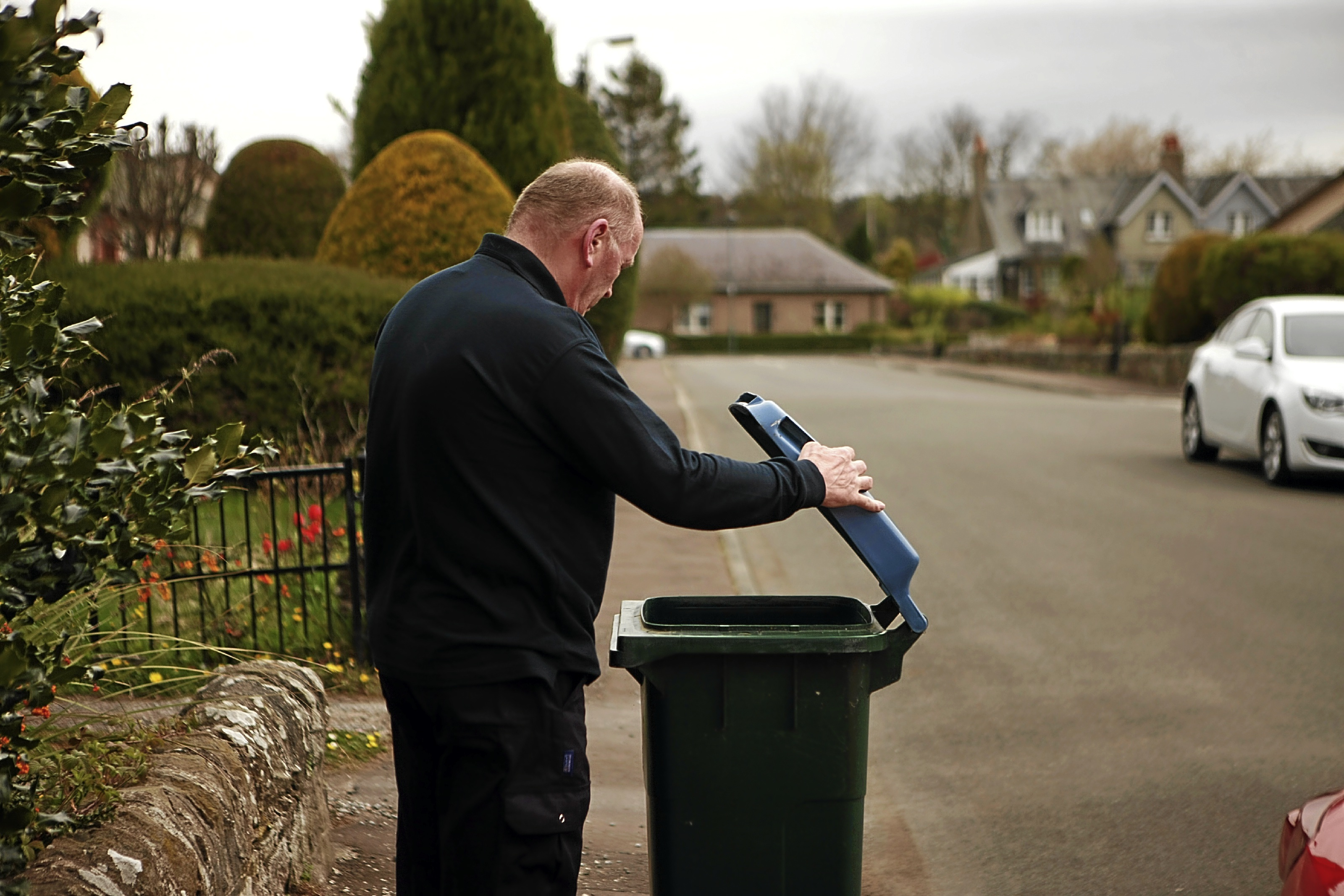 Residents in Longforgan are visited by bin inspectors should they request extra capacity for their rubbish disposal.