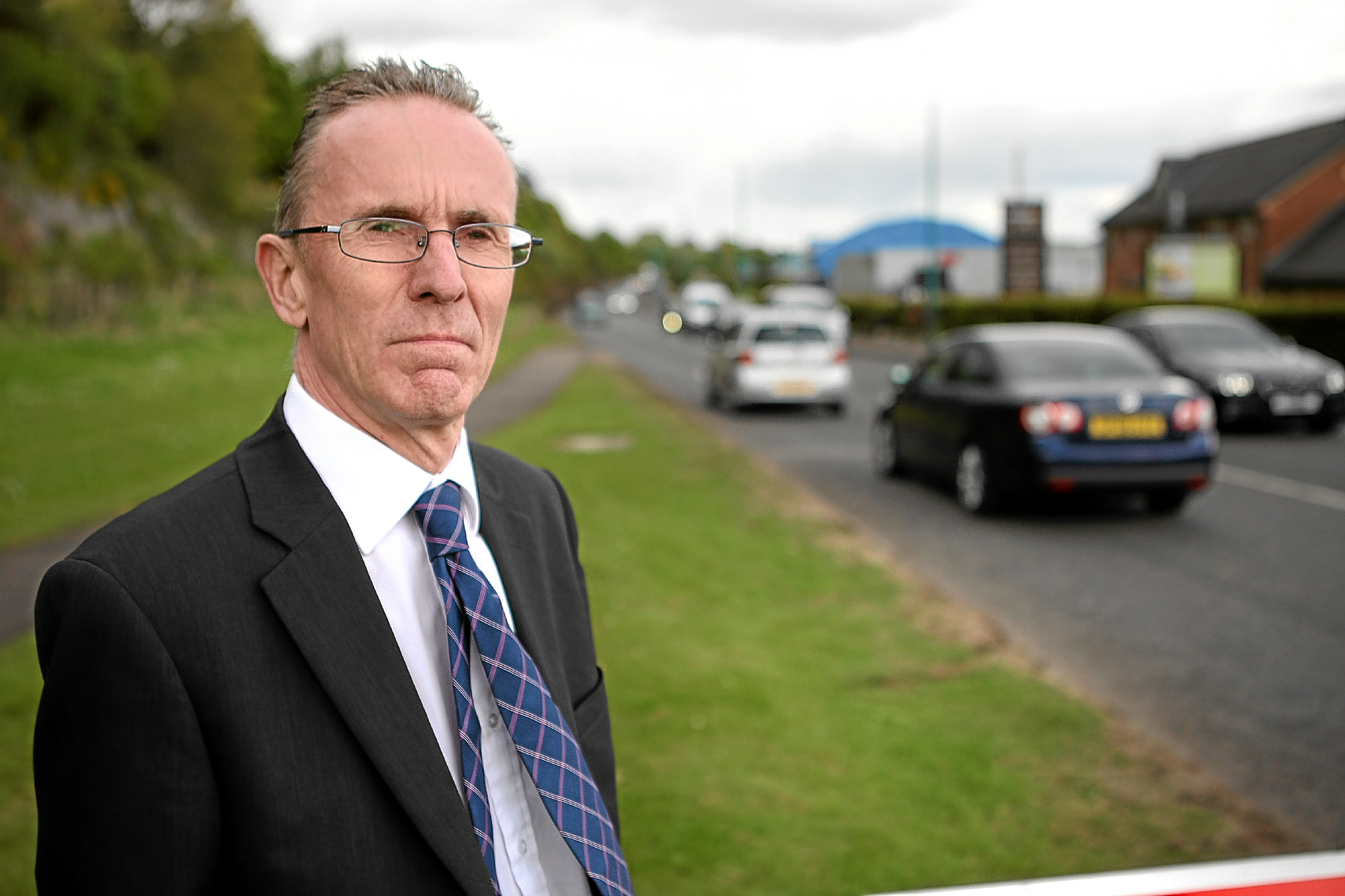 Cllr Fraser Macpherson at Riverside Drive (stock image)