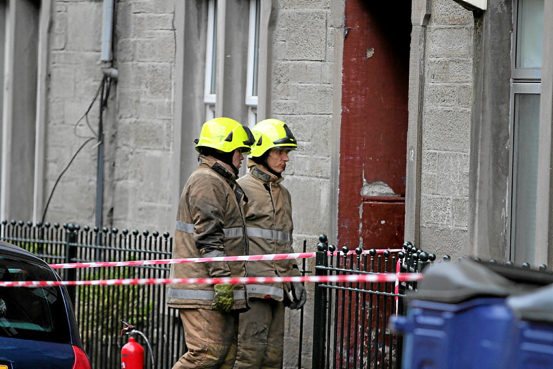 Crews at the blaze in Park Avenue, which is still under investigation