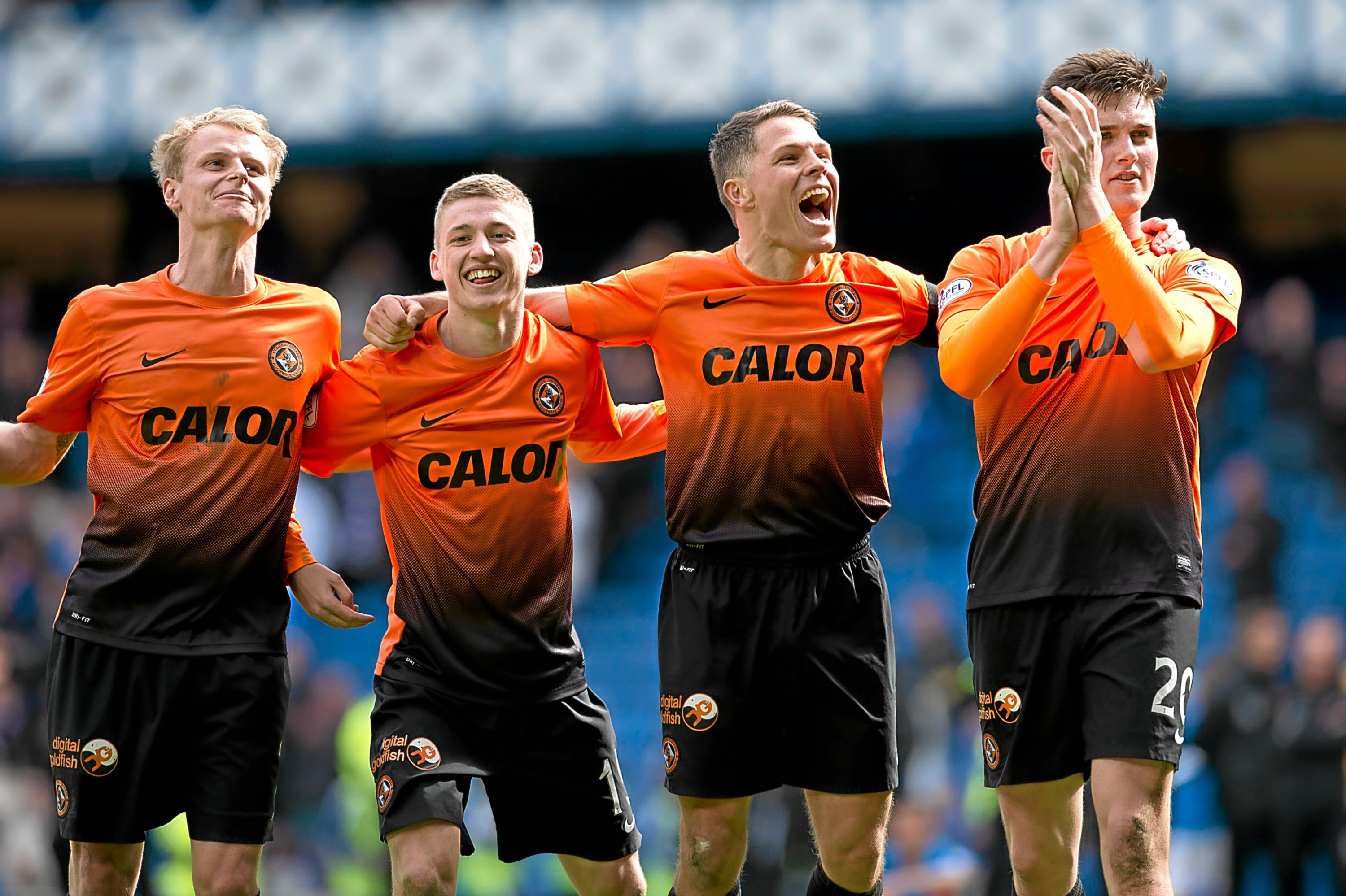 John Rankin's greatest memory as a Dundee United player came in 2014 at Ibrox when United beat Rangers in the Scottish Cup semi-final. Rankin is pictured above celebrating that win.