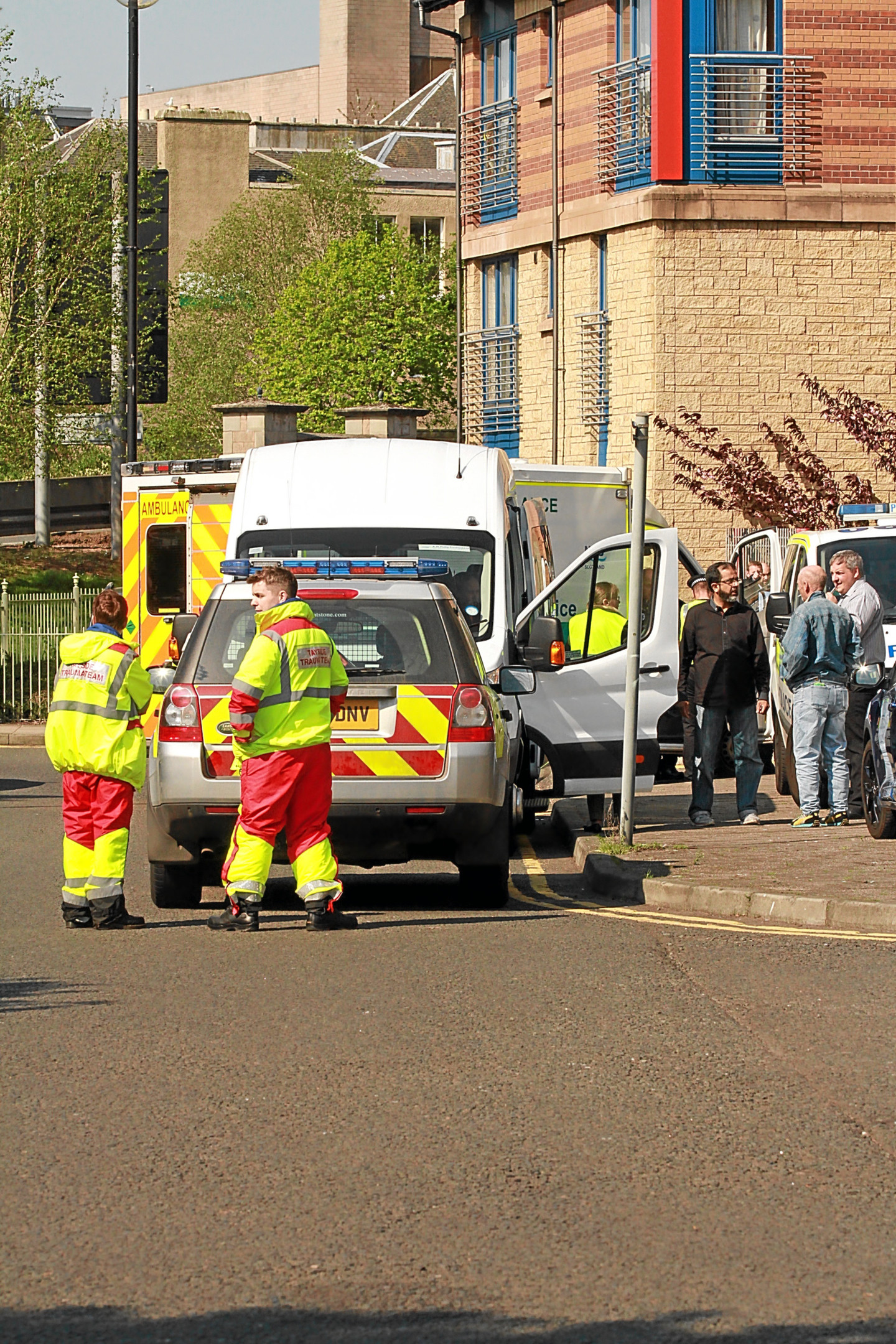 Police and ambulance services attended the incident