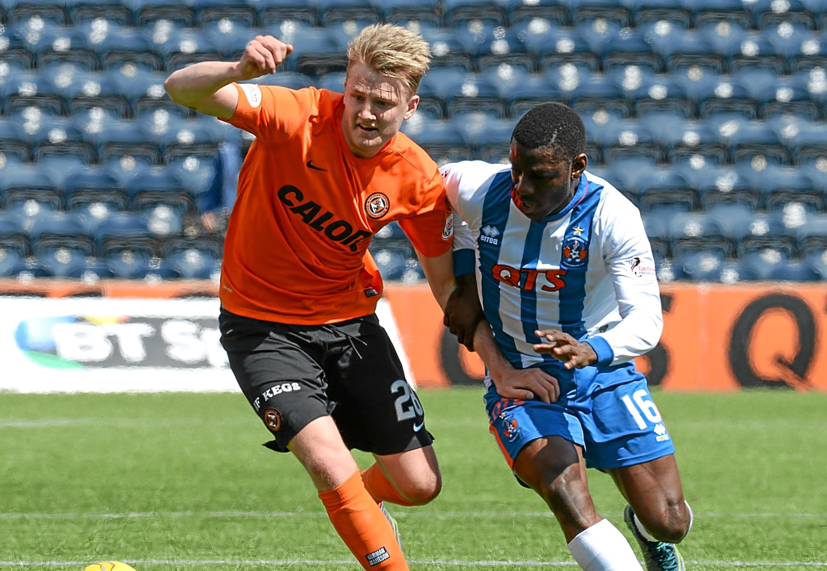 Despite being told he was free to leave the club, Coll Donaldson made the most of his surprise inclusion in the team for the last match of the season against Killie on Saturday.