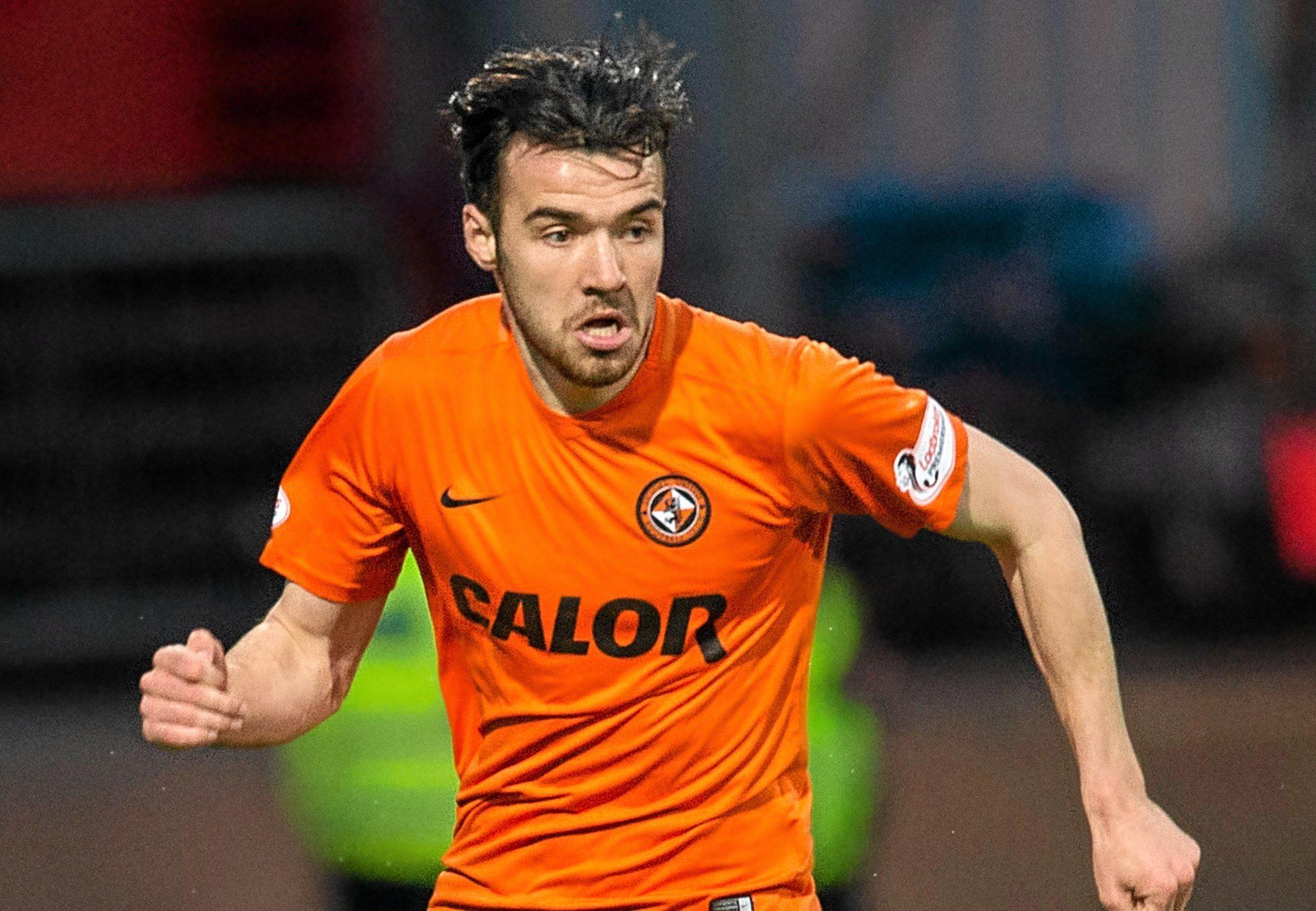 Dundee United midfielder Scott Fraser