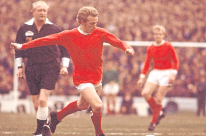 Denis Law in action