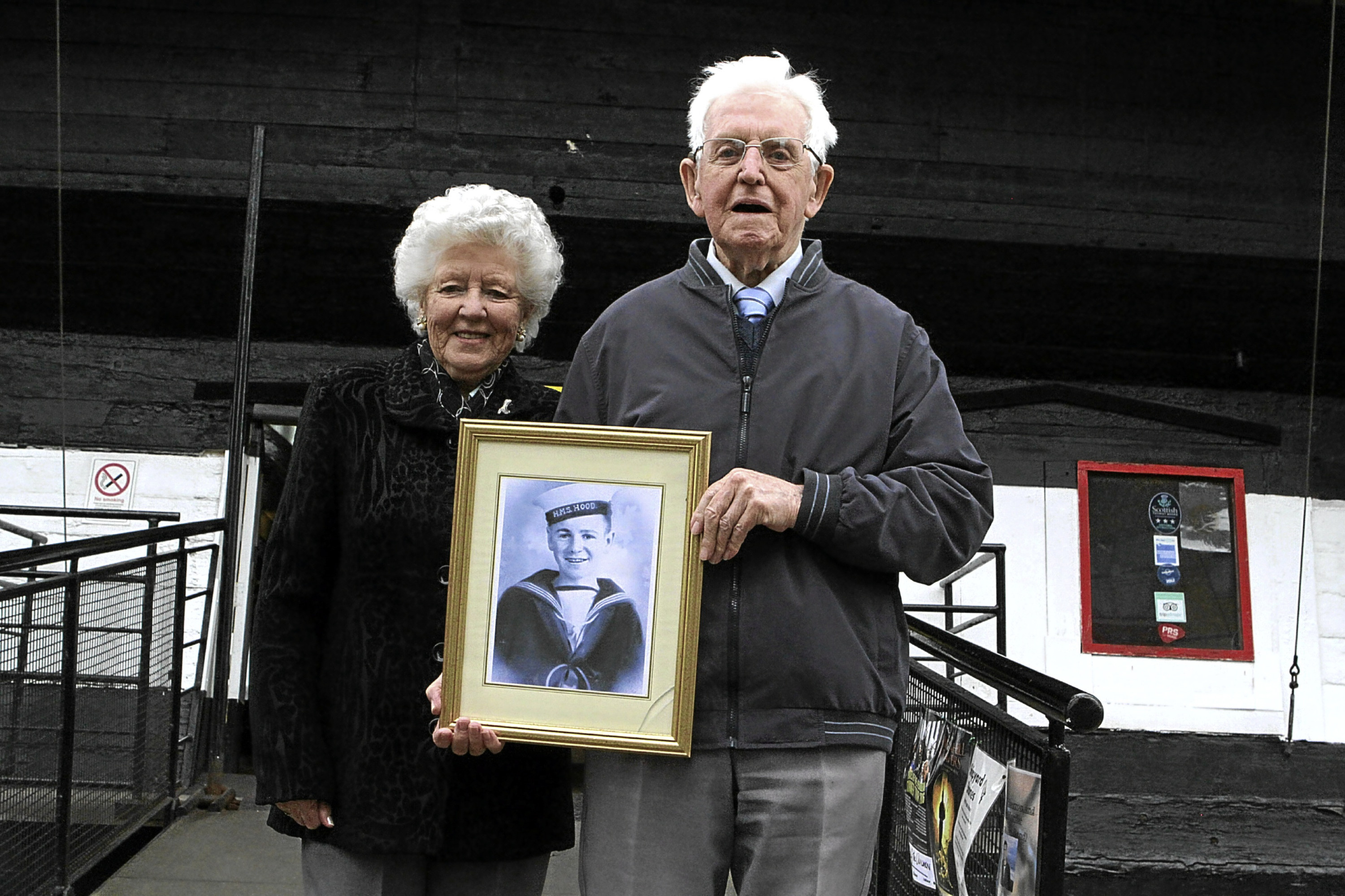 Duncan Knox, whose brother, John, was on the stricken ship, attended the event with his wife, Ann.