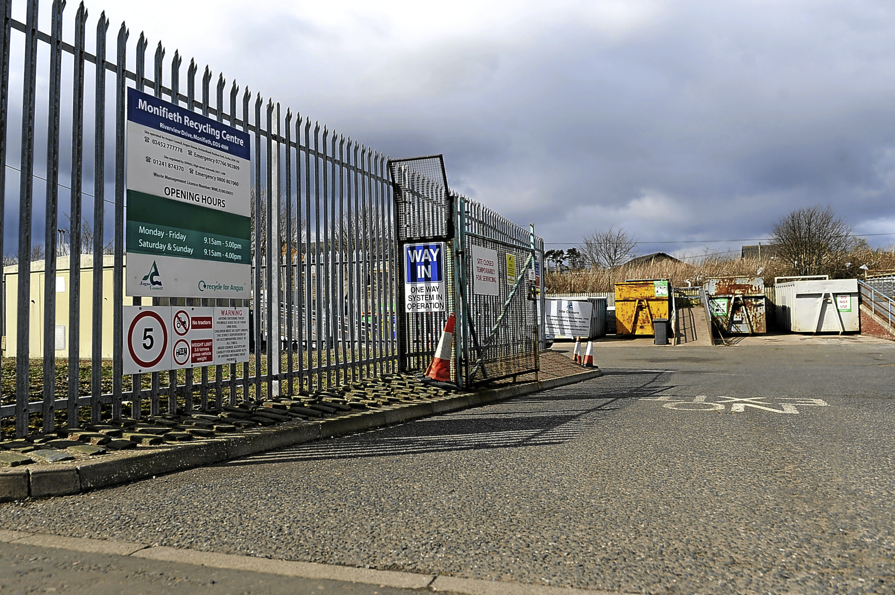 There are proposals to close recycling centres, such as this one at Monifieth