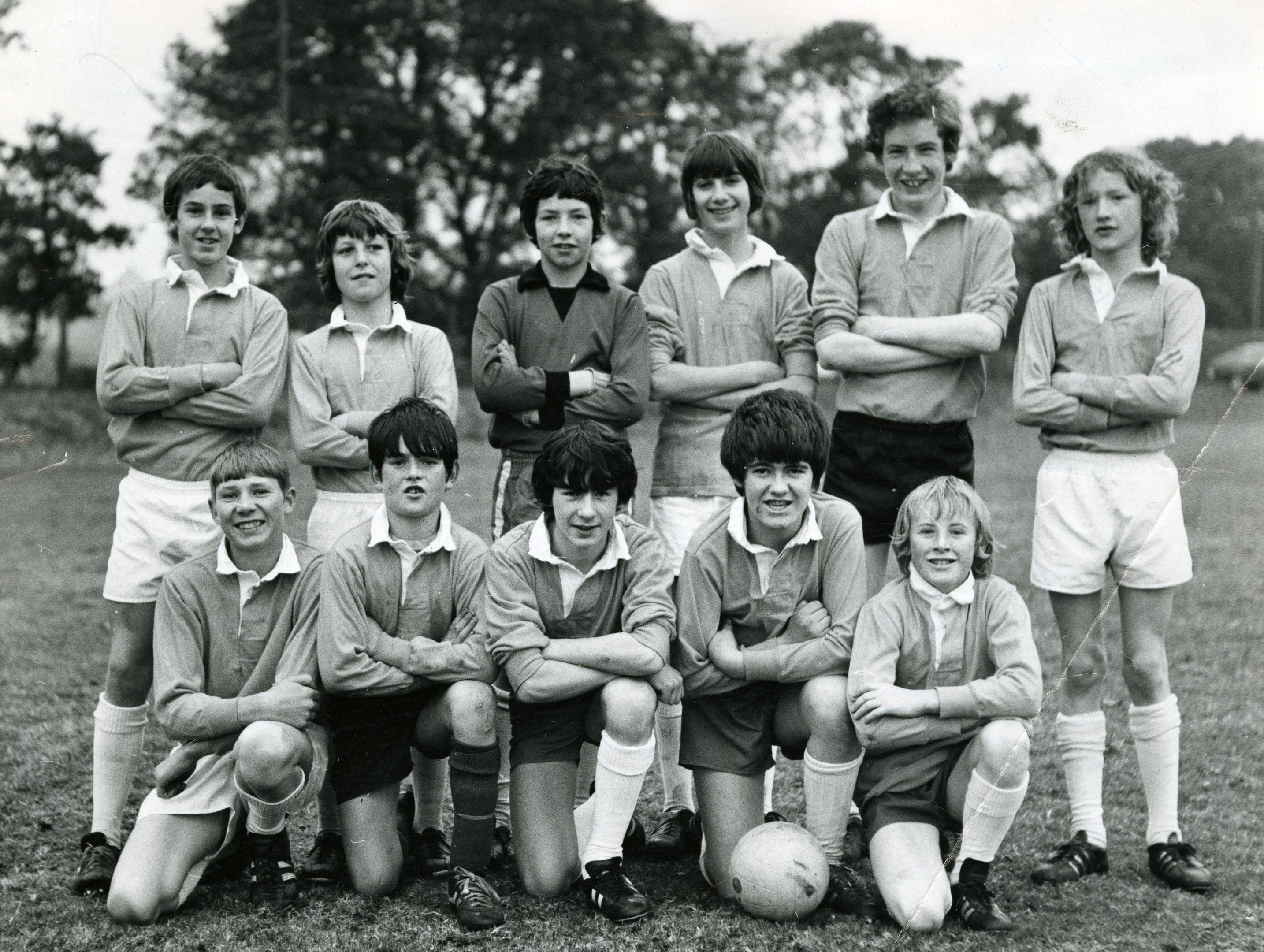 TheCraigie High School under 14 XI pictured in October 1971.