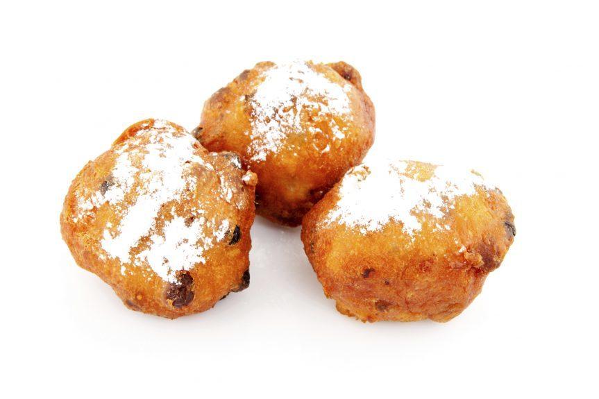 Three Dutch donut also known as oliebollen