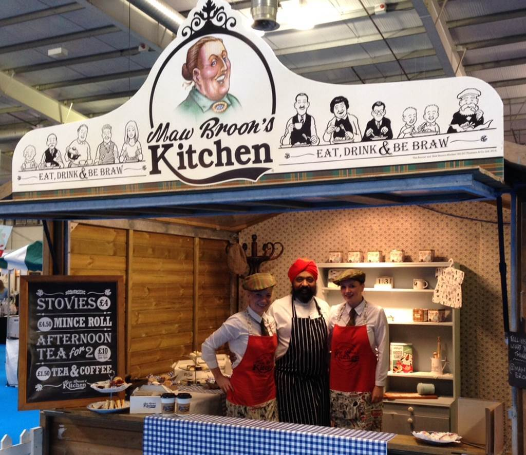The pop-up Maw Broon's Kitchen that was trialled in 2014.