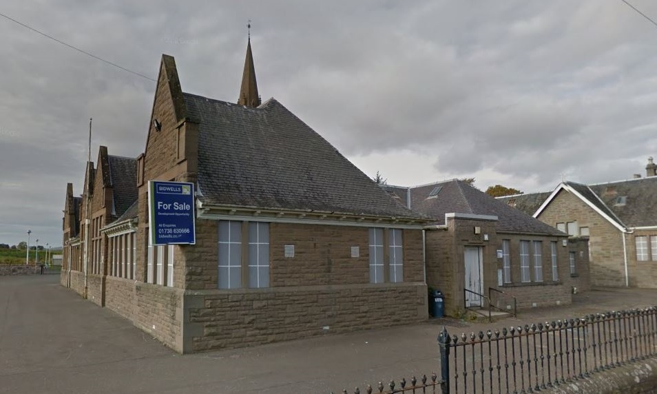The old school building in the grounds of Invergowrie Primary.