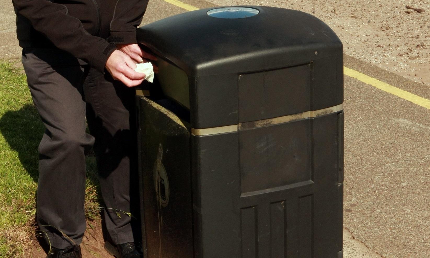 A street bin.