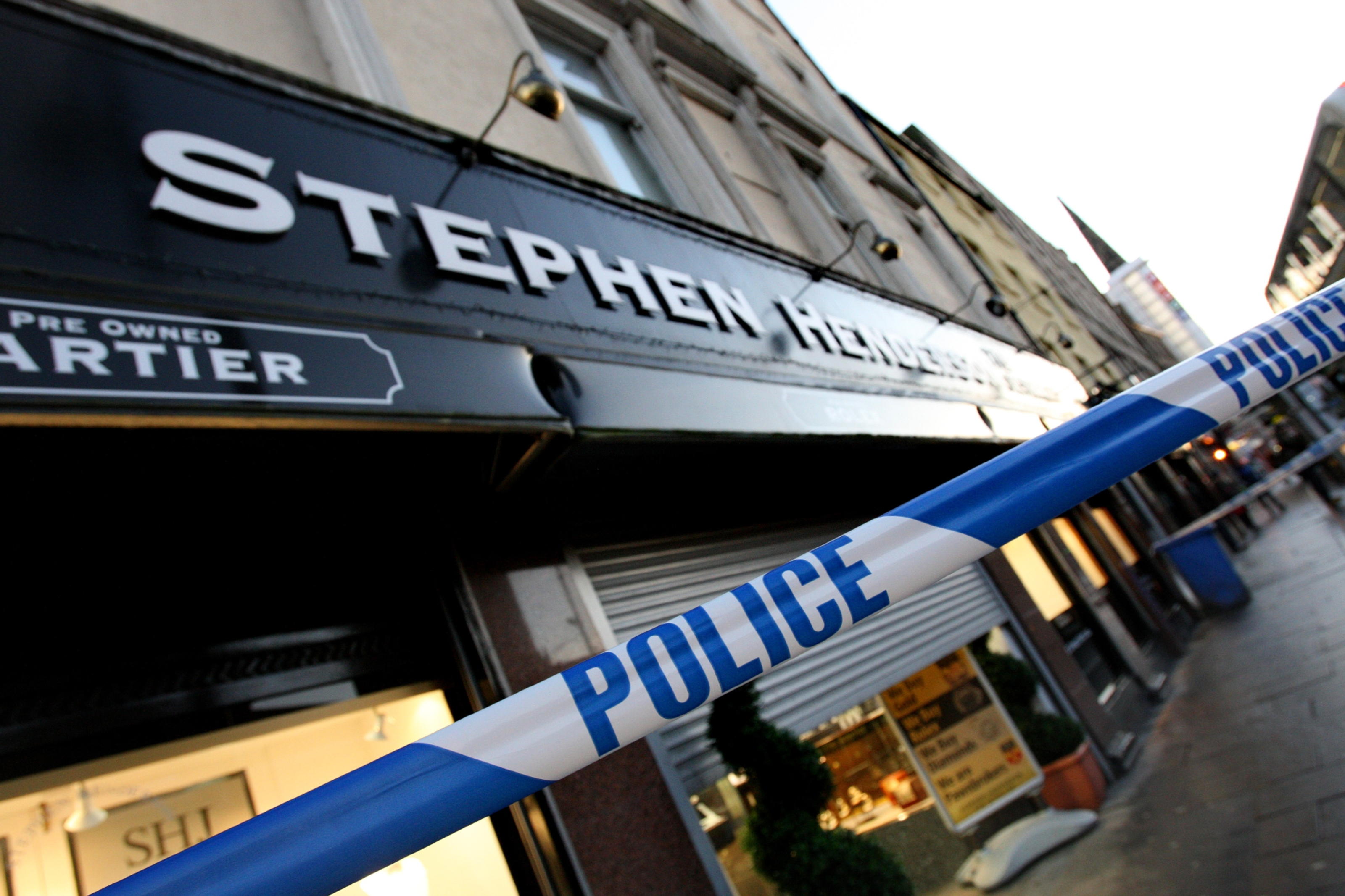 The theft happened at Stephen Henderson Jewellers
