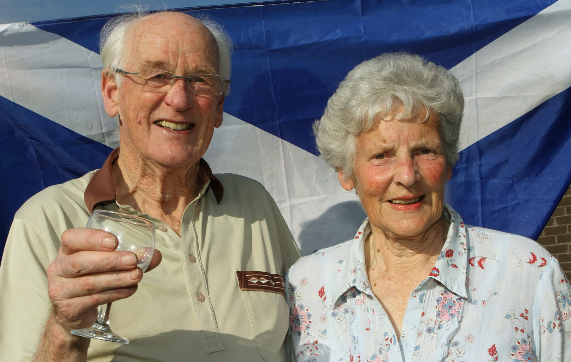 Andy Murray's grandparents Roy and Shirley Erskine pictured in 2013.