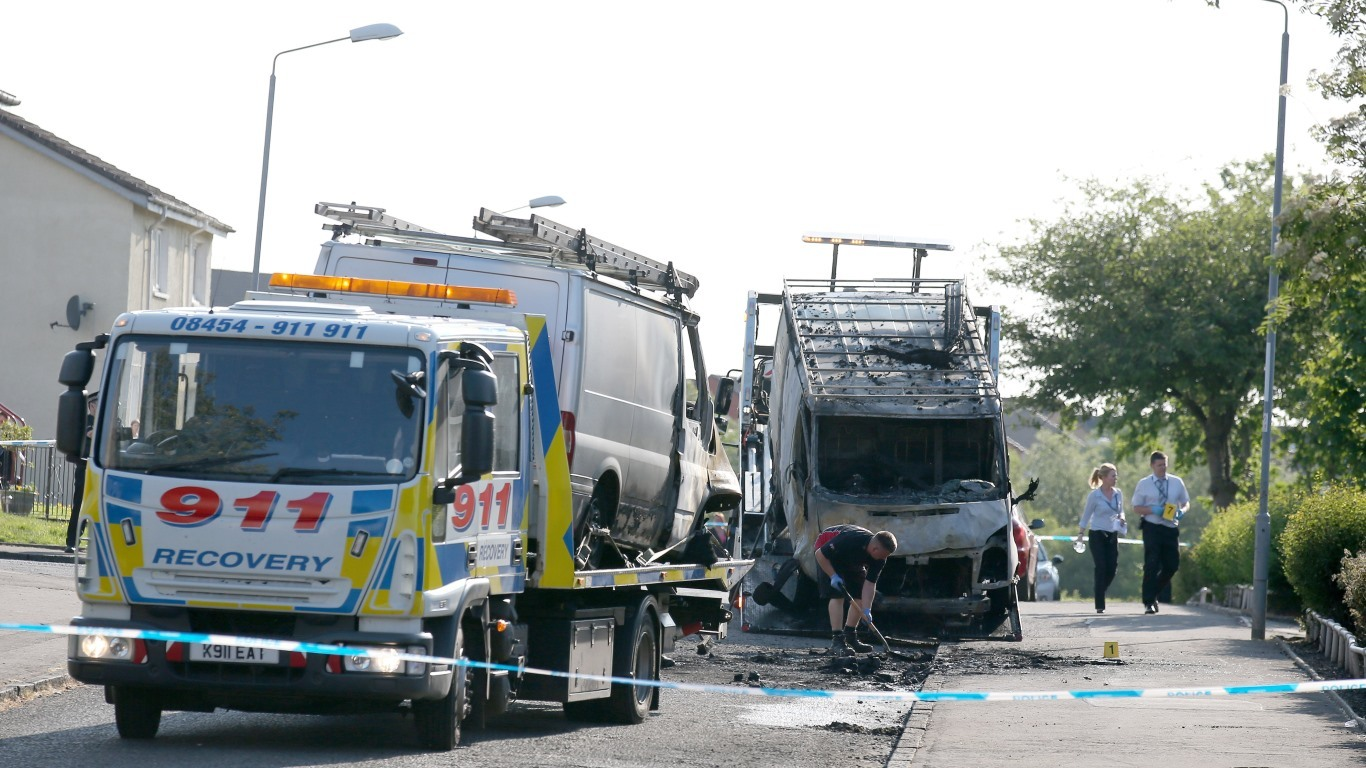 Two vans are recovered at the scene