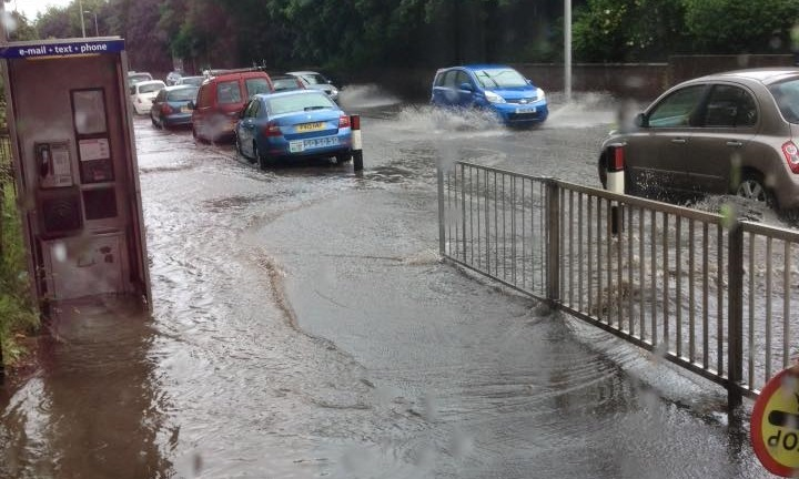 The flash-flooding on Dens Road