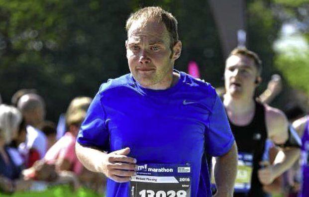 Robert Fleming competes in the Edinburgh Marathon.