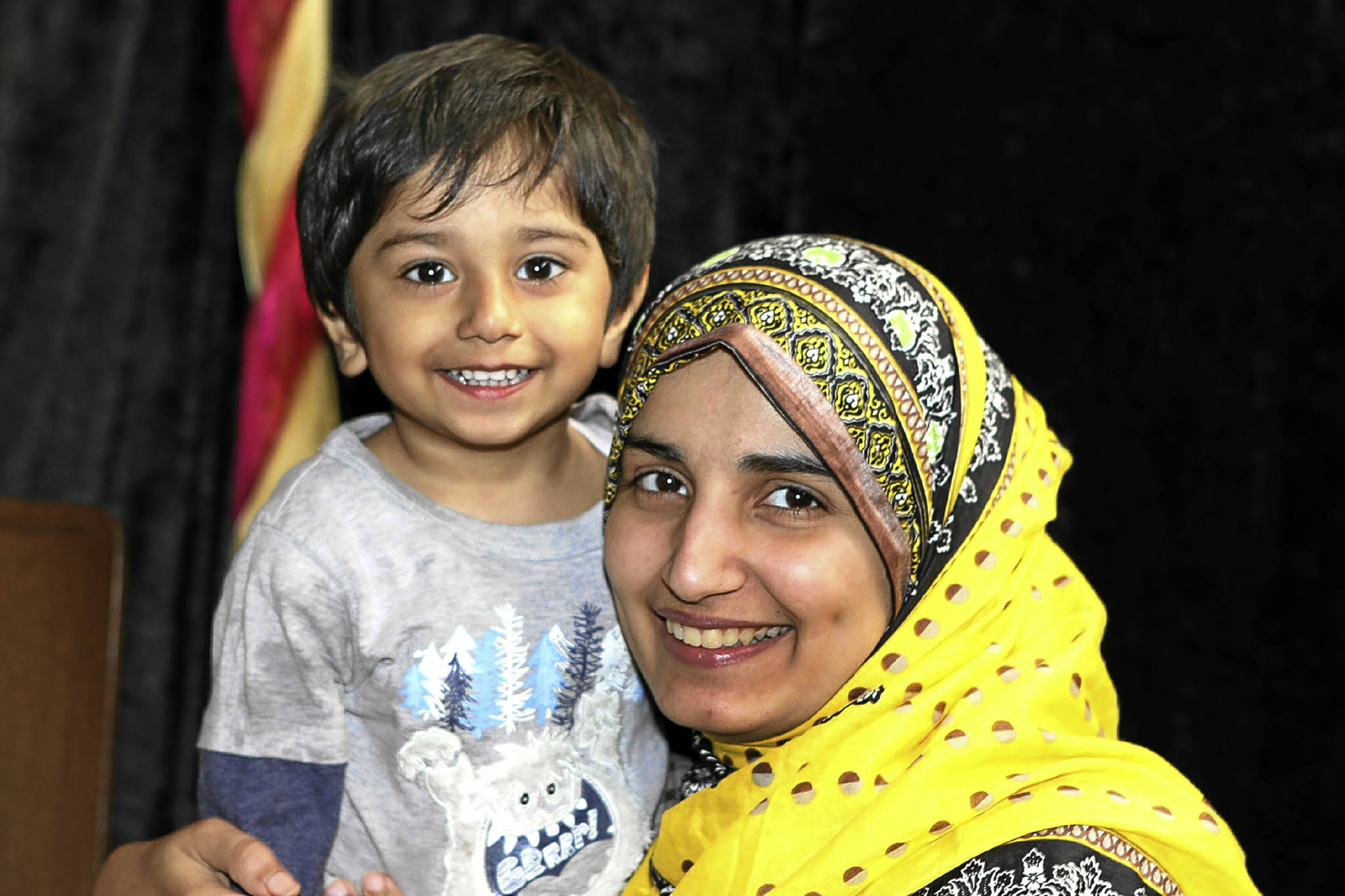 Azra Sohail, pictured with her son Muhammad Zayam, spoke no English when she moved to Scotland.