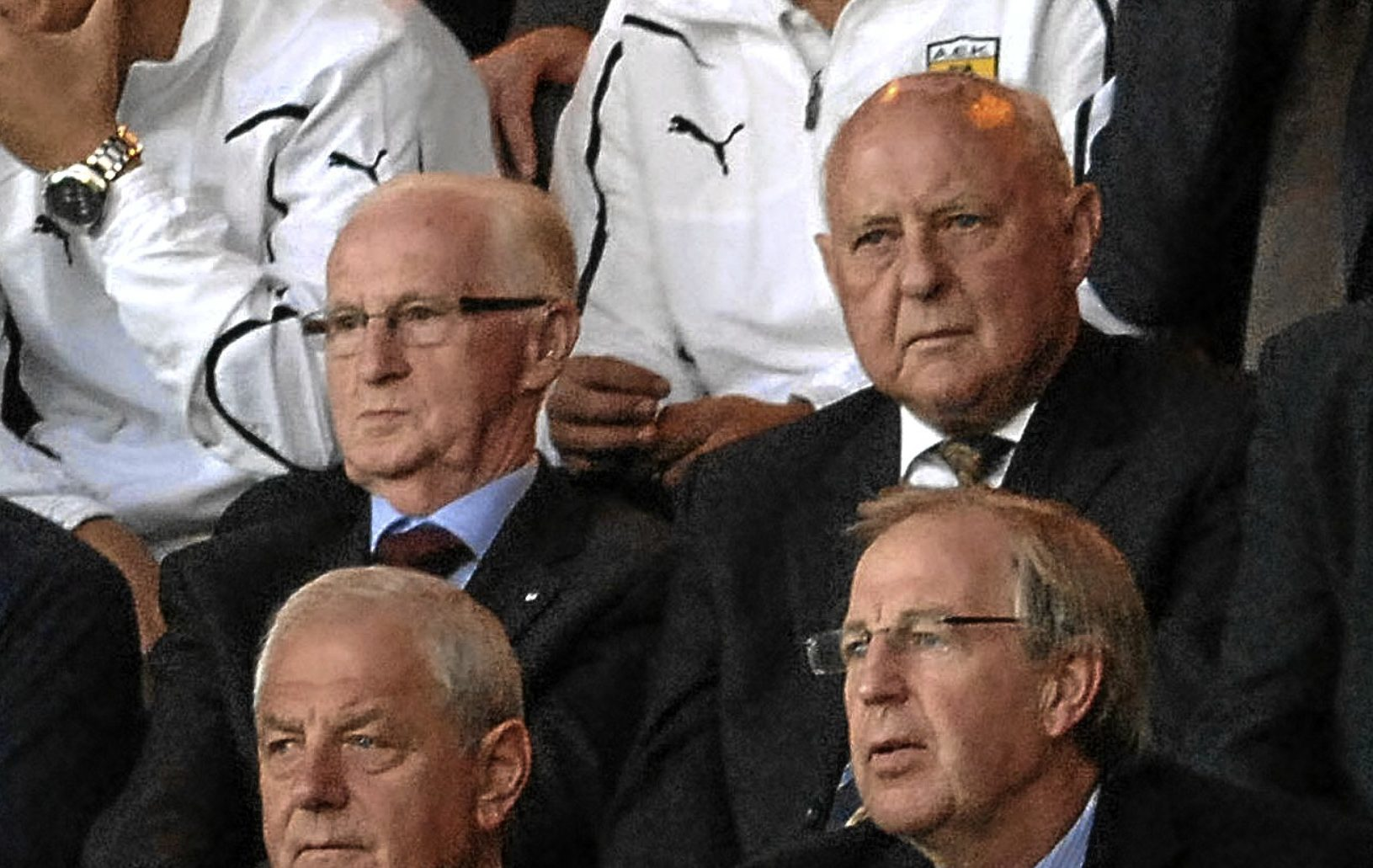 Longtime friends John Letford and Jim McLean take in a match at Tannadice.