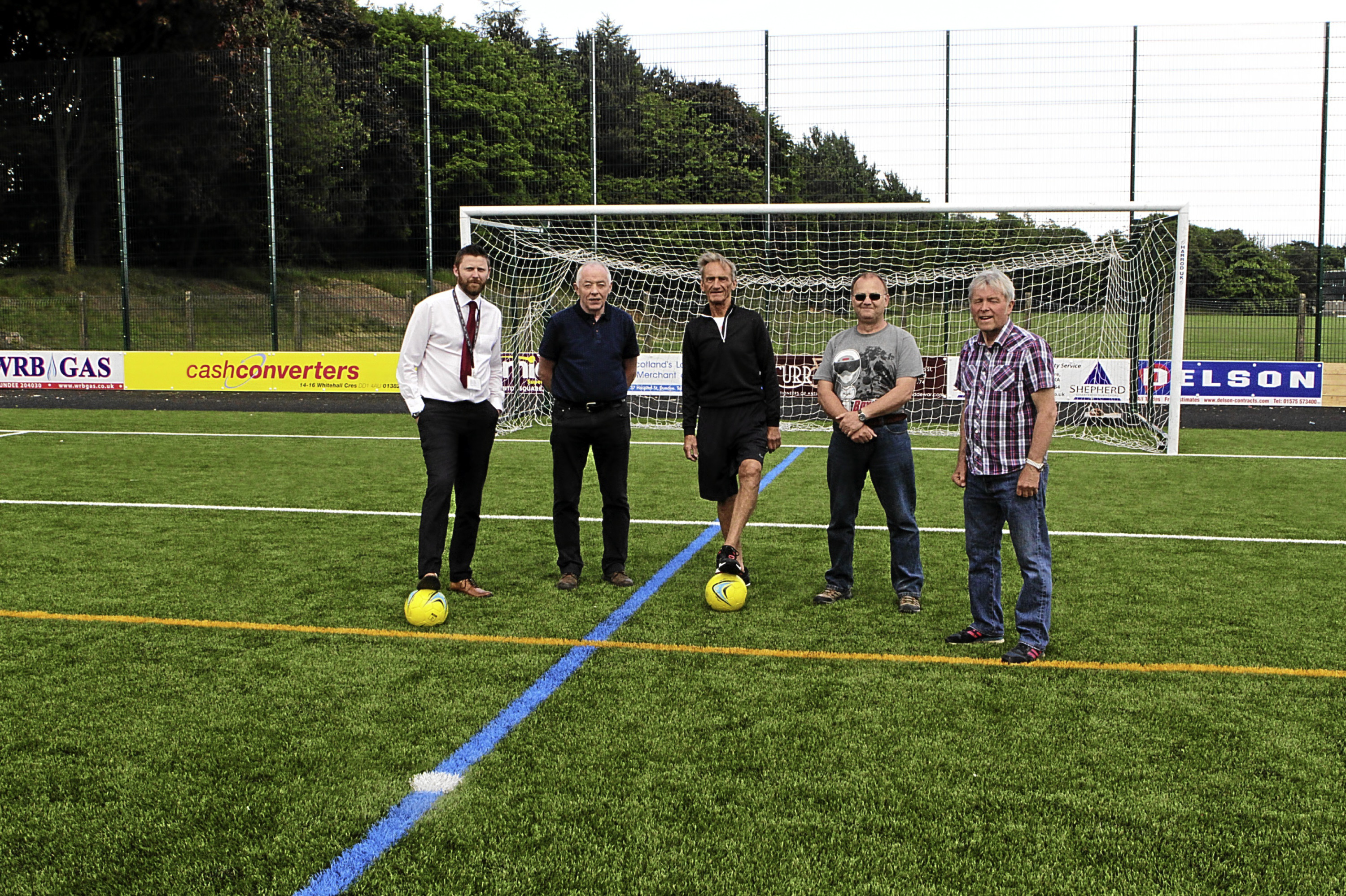 From left; Phil Smith, Jim McIlravey, Brian McNicoll, John Hodges, and George Allan